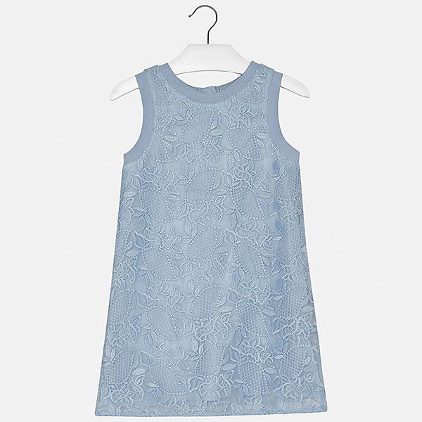 Платье для девочки MayoralОдежда<br>Характеристики товара:<br><br>• цвет: голубой<br>• состав: 100% полиэстер, подкладка - 40% полиэстер, 60% хлопок<br>• застежка: молния<br>• прямой силуэт<br>• без рукавов<br>• с подкладкой<br>• страна бренда: Испания<br><br>Нарядное платье для девочки поможет разнообразить гардероб ребенка и создать эффектный наряд. Оно подойдет для различных случаев. Платье хорошо сидит по фигуре.<br><br>Платье для девочки от испанского бренда Mayoral (Майорал) можно купить в нашем интернет-магазине.<br><br>Ширина мм: 236<br>Глубина мм: 16<br>Высота мм: 184<br>Вес г: 177<br>Цвет: голубой<br>Возраст от месяцев: 144<br>Возраст до месяцев: 156<br>Пол: Женский<br>Возраст: Детский<br>Размер: 158,128/134,164,152,140<br>SKU: 5293316