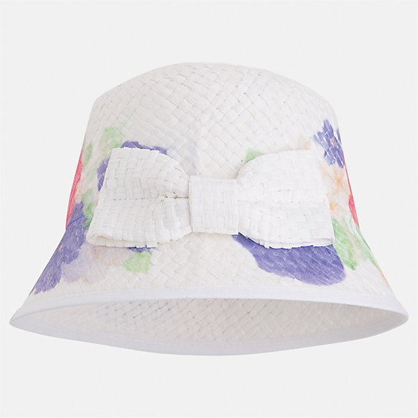 Шляпа для девочки MayoralЛетние<br>Характеристики товара:<br><br>• цвет: белый<br>• состав: 100% бумага<br>• принт<br>• дышащая фактура<br>• декорирована бантом<br>• страна бренда: Испания<br><br>Красивая легкая шляпа для девочки поможет обеспечить ребенку защиту от солнца и дополнить наряд. Шляпа удобно сидит и красиво смотрится. <br><br>Шляпу для девочки от испанского бренда Mayoral (Майорал) можно купить в нашем интернет-магазине.<br><br>Ширина мм: 89<br>Глубина мм: 117<br>Высота мм: 44<br>Вес г: 155<br>Цвет: синий<br>Возраст от месяцев: 48<br>Возраст до месяцев: 60<br>Пол: Женский<br>Возраст: Детский<br>Размер: 52,50,54<br>SKU: 5293527
