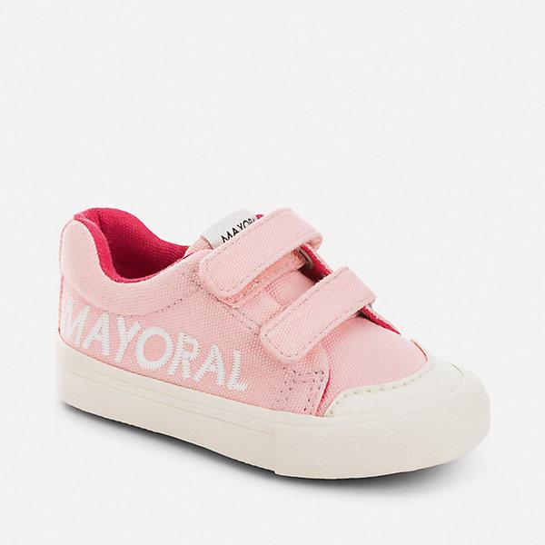 Кеды для девочки MayoralКеды<br>Характеристики товара:<br><br>• цвет: розовый<br>• состав: верх, подкладка и стелька - хлопок, подошва - резина<br>• застежка: липучки<br>• украшены вышивкой<br>• устойчивая подошва<br>• яркая подкладка<br>• страна бренда: Испания<br><br>Стильные кеды для девочки помогут обеспечить ребенку комфорт и дополнить наряд. Кеды удобно сидят на ноге и красиво смотрятся. Они станут оригинальным акцентом в наряде!<br><br>Кеды для девочки от испанского бренда Mayoral (Майорал) можно купить в нашем интернет-магазине.<br><br>Ширина мм: 250<br>Глубина мм: 150<br>Высота мм: 150<br>Вес г: 250<br>Цвет: розовый<br>Возраст от месяцев: 48<br>Возраст до месяцев: 60<br>Пол: Женский<br>Возраст: Детский<br>Размер: 28,22,30,29,27,26,25,24,23<br>SKU: 5293698
