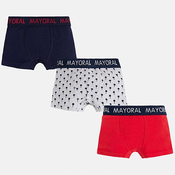 Трусы (3 пары) для мальчика MayoralНижнее бельё<br>Характеристики товара:<br><br>• цвет: синий/серый/красный<br>• состав: 95% хлопок, 5% эластан<br>• комплектация: 3 шт<br>• мягкая резинка<br>• эластичный материал<br>• комбинированный материал<br>• страна бренда: Испания<br><br>Удобные симпатичные трусы для мальчика помогут обеспечить ребенку комфорт. В составе материала - натуральный хлопок, гипоаллергенный, приятный на ощупь, дышащий. На поясе - мягкая широкая резинка, которая не давит на живот и не натирает.<br><br>Трусы (3 пары) для мальчика от испанского бренда Mayoral (Майорал) можно купить в нашем интернет-магазине.<br><br>Ширина мм: 196<br>Глубина мм: 10<br>Высота мм: 154<br>Вес г: 152<br>Цвет: красный<br>Возраст от месяцев: 120<br>Возраст до месяцев: 132<br>Пол: Мужской<br>Возраст: Детский<br>Размер: 152,164,92,104,116,128,140,158<br>SKU: 5294334