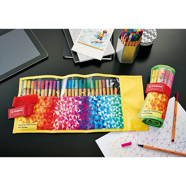 Набор капиллярных ручек Stabilo Point 88 Fan, 25 цветовПисьменные принадлежности<br>Характеристики:<br><br>• капилярная ручка;<br>• в комплекте 20 шт.;<br>• материал: пластик;<br>• диаметр ручки: 0,7 см.;<br>• толщина линии: 0,4 см.;<br>• длина ручки: 16,5 см.;<br>• упаковка: футляр-чехол;<br>• размер упаковки: 17х6,5х0,8 см;<br>• вес: 170 г.;<br>• бренд, страна: STABILO, Германия.<br><br>Набор ручек капиллярных 25 цветов Stabilo point 88 в красочном нейлоновом разворачивающемся чехле поможет организовать ваше рабочее пространство и время. <br><br>Капиллярная ручка идеально подходит для особо легкого и мягкого письма, рисования и черчения. Металлическое обжатие наконечника дает возможность работать с линейками и трафаретами. Высокое качество износостойкого пишущего наконечника и большой запас чернил значительно увеличивают срок службы ручки. Ручка долгое время сохраняет работоспособность без колпачка. Чернила на водной основе. Цвет колпачка соответствует цвету чернил. <br><br>Товары для работы и творчества бренда STABILO почти 30 лет олицетворяют безупречное немецкое качество. Кроме того, их универсальность и надежность трудно переоценить.<br><br>Набор капиллярных ручек Stabilo Point 88, 25 цветов в футляре-чехле, можно купить в нашем интернет-магазине.<br>Ширина мм: 202; Глубина мм: 81; Высота мм: 66; Вес г: 192; Возраст от месяцев: 84; Возраст до месяцев: 144; Пол: Унисекс; Возраст: Детский; SKU: 5295505;