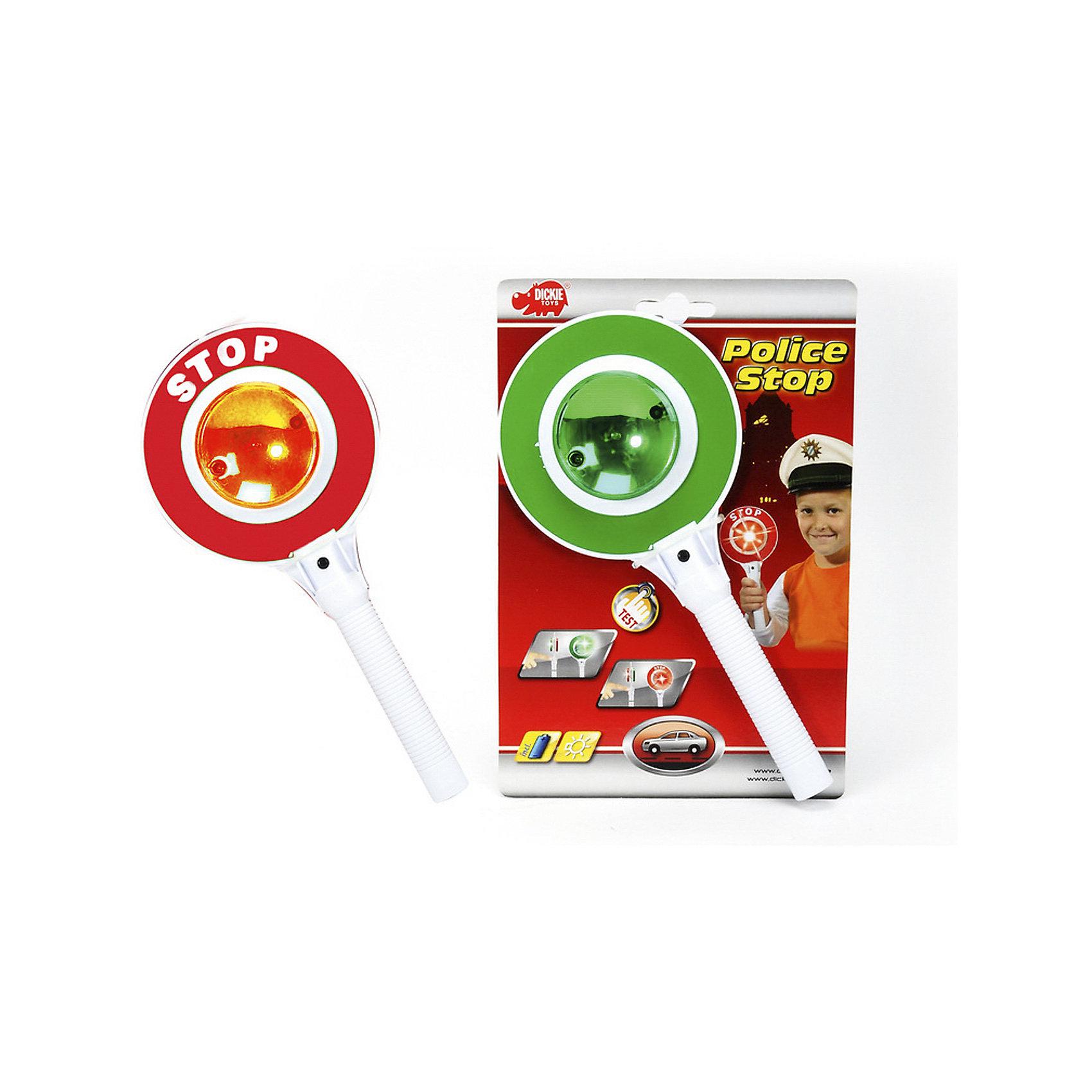 Сигнал регулировщика со светом, 25 см, Dickie ToysСюжетно-ролевые игры<br>Электронный сигнал регулировщика поможет ребенку выучить наизусть сигналы: красный – стой, зеленый – иди. Для активации световых эффектов предусмотрена кнопка, которая находится на ручке под табло. В игровой форме обучение проходит быстро и интересно. Размер сигнала регулировщика: 25 см.<br><br>Сигнал регулировщика со светом, 25 см, Dickie Toys можно купить в нашем магазине.<br><br>Ширина мм: 420<br>Глубина мм: 140<br>Высота мм: 235<br>Вес г: 600<br>Возраст от месяцев: 36<br>Возраст до месяцев: 96<br>Пол: Мужской<br>Возраст: Детский<br>SKU: 5295523