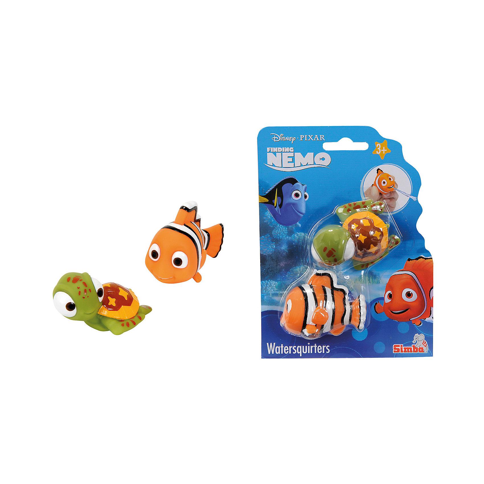 ФигуркиNemo, 2 шт., 7 см, SimbaВ поисках Дори<br>Характеристики:<br><br>• тип игрушек для купания: брызгалки;<br>• количество в наборе: 2 шт.;<br>• размер игрушки: 7 см;<br>• материал: резина;<br>• размер упаковки: 17х15х4 см.<br><br>Игрушки-брызгалки для купания позабавят кроху во время водных процедур. Игрушки выпускают фонтанчики воды, струйки щекочут малыша. Игрушки выполнены из качественной резины, по мотивам мультфильма «В поисках Немо». <br><br>Фигурки Nemo, 2 шт., 7 см, Simba можно купить в нашем магазине.<br><br>Ширина мм: 150<br>Глубина мм: 40<br>Высота мм: 170<br>Вес г: 90<br>Возраст от месяцев: 36<br>Возраст до месяцев: 84<br>Пол: Унисекс<br>Возраст: Детский<br>SKU: 5295525