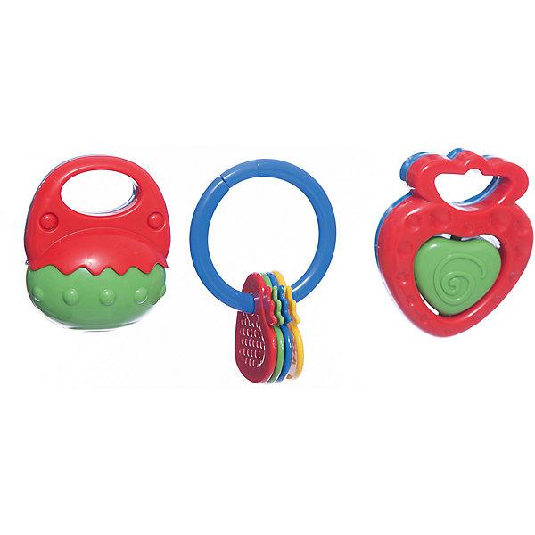 Набор погремушек, 3 шт, 8-10 см, SimbaИгрушки для новорожденных<br>Характеристики:<br><br>• особенность погремушек: с прорезывателем;<br>• материал: пластик;<br>• размер: 8-10 см;<br>• количество в наборе: 3 шт.;<br>• размер упаковки: 20,5х20,5х5,5 см.<br><br>Набор погремушек развивает слуховое восприятие малыша. При встряхивании погремушки цветные шарики в прозрачном контейнере перекатываются и создают мелодичный перезвон. Рельефные прорезыватели с массажным эффектом пригодятся на этапе прорезывания зубок у малыша. <br><br>Внимание! Данный артикул имеется в наличии в разных цветах и вариантах исполнения. Заранее выбрать определенный вариант нельзя. При заказе нескольких наборов возможно получение одинаковых.<br><br>Набор погремушек, 3 шт, 8-10 см, Simba можно купить в нашем магазине.<br>Ширина мм: 210; Глубина мм: 60; Высота мм: 210; Вес г: 300; Возраст от месяцев: 36; Возраст до месяцев: 24; Пол: Унисекс; Возраст: Детский; SKU: 5295526;