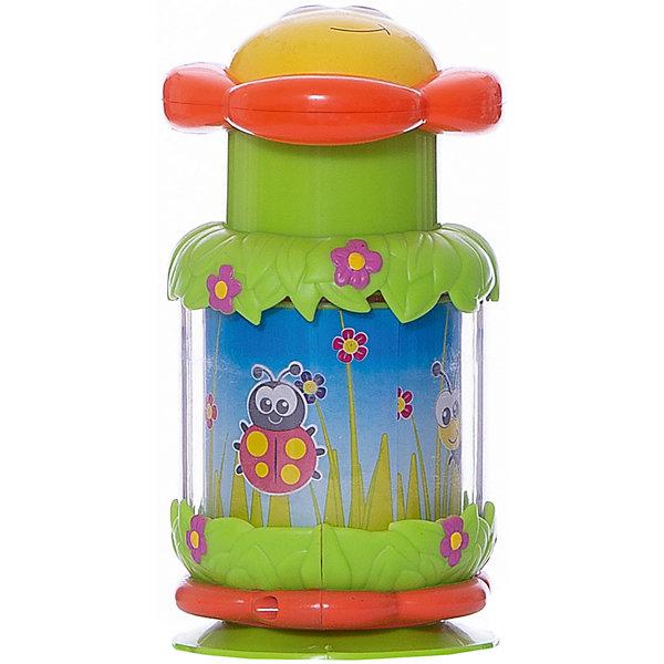 Цветочек-волчок, 15 см, SimbaЮлы, неваляшки<br>Характеристики:<br><br>• высота игрушки: 15 см;<br>• материал: пластик;<br>• размер упаковки: 18,5х15х11 см.<br><br>Развивающая игрушка для малышей старше года представляет собой волчок, который оформлен в виде цветочка. Игрушка устанавливается на пол (на стол, тумбочку), малыш нажимает на цветочную серединку и запускает бабочку в полет. Бабочка изображена на панели внутри колбы, во время вращения бабочка будто летит. Игрушка развивает зрительное восприятие, логическое мышление, наблюдательность. <br><br>Цветочек-волчок, 15 см, Simba можно купить в нашем магазине.<br>Ширина мм: 110; Глубина мм: 150; Высота мм: 185; Вес г: 100; Возраст от месяцев: 144; Возраст до месяцев: 24; Пол: Унисекс; Возраст: Детский; SKU: 5295529;