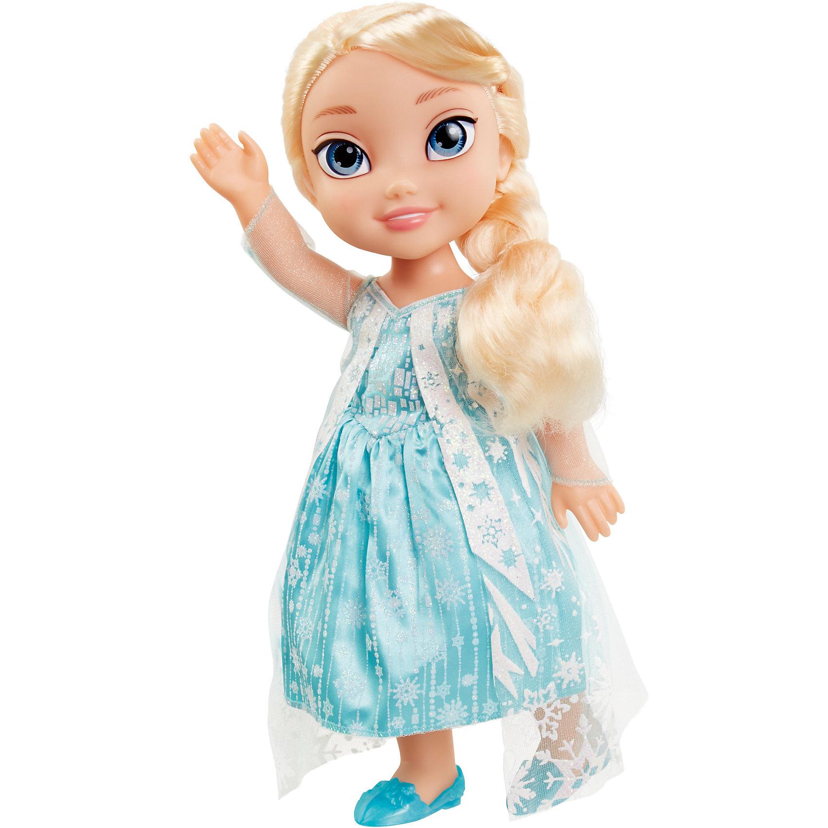 Кукла Эльза, 35 см, Холодное сердцеХарактеристики:<br><br>• высота куклы: 35 см;<br>• комплектация: кукла, снеговик Олаф, аксессуары;<br>• аксессуары: диадема, зеркальце;<br>• материал: пластик, текстиль, нейлон;<br>• размер упаковки: 38,5х20,5х12 см;<br>• вес: 790 г.<br><br>Кукла-принцесса Эльза одета в платье, в котором была ее героиня из мультфильма Frozen. На ножках зеленые туфельки. В руках Эльза держит зеркальце, чтобы в любой момент можно было поправить прическу или воротничок. Нейлоновые волосы куклы густые и мягкие на ощупь, Эльзе можно делать различные прически. Верный друг девочек – снеговик Олаф – сопровождает Эльзу в наборе Jakks pacific.<br><br>Куклу Эльза, 35 см, Холодное сердце можно купить в нашем магазине.<br><br>Ширина мм: 205<br>Глубина мм: 385<br>Высота мм: 120<br>Вес г: 792<br>Возраст от месяцев: 36<br>Возраст до месяцев: 2147483647<br>Пол: Женский<br>Возраст: Детский<br>SKU: 5296179