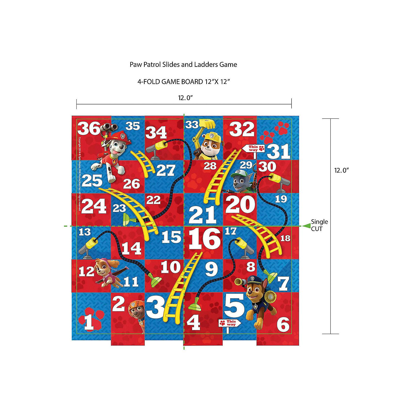 Настольная игра Канаты и лестницы, Щенячий ПатрульНастольные игры ходилки<br>Характеристики:<br><br>• комплектация: игровое поле, 4 фишки, волчок;<br>• количество игроков: 2-4 человека;<br>• материал: картон, пластик;<br>• размер игрового поля: 25,5х25,5 см;<br>• размер упаковки: 26,5х20х4,5 см;<br>• вес: 388 г.<br><br>Настольная игра «Канаты и лестницы» поможет узнать, кто из щенков «Щенячий Патруль» быстрее всех справится с заданием и придет на помощь. Игроки поочередно вращают волчок, ходы осуществляются согласно выпавшим значениям. Кто первым доберется к маяку – тот и станет победителем. <br><br>Настольную игру Канаты и лестницы, Щенячий Патруль можно купить в нашем магазине.<br><br>Ширина мм: 200<br>Глубина мм: 265<br>Высота мм: 45<br>Вес г: 388<br>Возраст от месяцев: 36<br>Возраст до месяцев: 2147483647<br>Пол: Унисекс<br>Возраст: Детский<br>SKU: 5298034