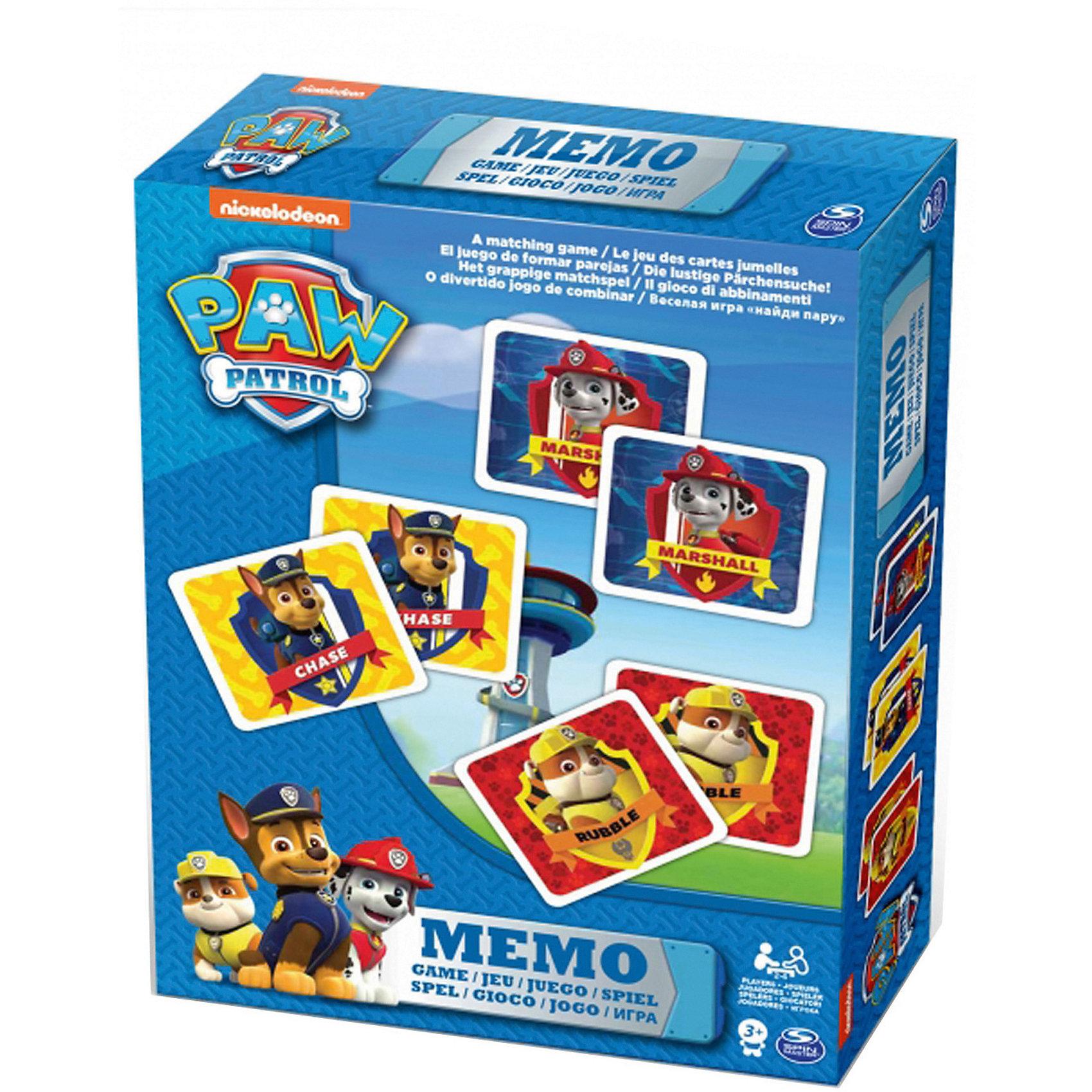 Игра Мемори 48 карточек, Щенячий ПатрульХарактеристики:<br><br>• комплектация: 48 карточек;<br>• количество игроков: 2-4 человека;<br>• материал: картон;<br>• размер упаковки: 16х16х3 см;<br>• вес: 216 г.<br><br>Правила игры:<br><br>1. Карточки переворачиваются рубашками вверх.<br>2. Игроки поочередно переворачивают по 2 карточки.<br>3. При удачном выборе пара одинаковых изображений переходит к тому игроку, кто открывал карточки.<br>4. Если пары не получилось, карточки переворачиваются обратно рубашками вверх. Ход переходит другому игроку.<br>5. Победителем считается тот игрок, у кого было больше всего совпадений в парных изображениях. <br><br>Игру Мемори 48 карточек, Щенячий Патруль можно купить в нашем магазине.<br><br>Ширина мм: 160<br>Глубина мм: 160<br>Высота мм: 30<br>Вес г: 216<br>Возраст от месяцев: 36<br>Возраст до месяцев: 2147483647<br>Пол: Унисекс<br>Возраст: Детский<br>SKU: 5298035