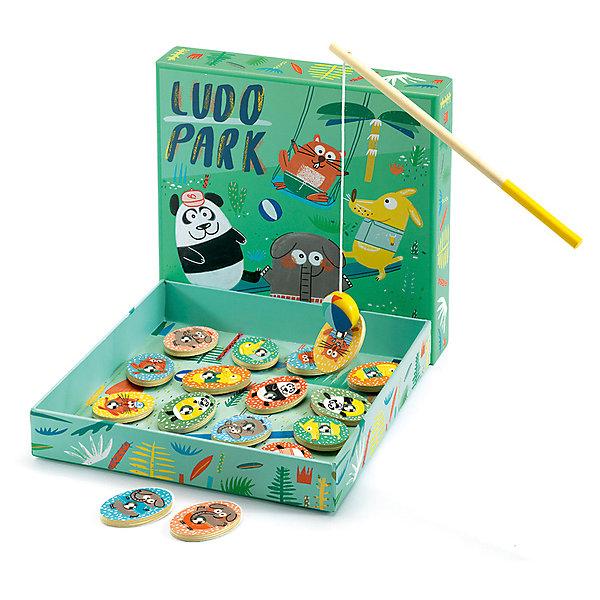 Развивающая игра Людопарк 4 в 1, DJECOНастольные игры ходилки<br>Развивающая игра Людопарк 4 в 1, DJECO (ДЖЕКО).<br><br>Характеристики:<br><br>- Игра рекомендована производителем для детей от 2 лет<br>- В состав игры входит: 4 полотна для игры в лото; 8 двухсторонних магнитных карточек с изображением животных; 4 деревянные фишки в виде животных; удочка; деревянный кубик; коробка, которая служит полем для игр; инструкция<br>- Материал: древесина, картон<br>- Упаковка: красивая подарочная коробка, в которой удобно хранить все детали игры<br>- Размер упаковки: 22,6х22,6х4 см.<br><br>Развивающая игра Людопарк 4 в 1 от французской компании Djeco (Джеко) – это четыре увлекательных игры в одной коробке! В наборе Ваш малыш найдет: игру с магнитной рыбалкой, лото, игру на развитие памяти и игру-догонялку. Игры непременно порадуют детей, они красочные и яркие, с забавными персонажами в виде различных зверей. Игра Людопарк развивает внимание, мелкую моторику, логическое мышление и память. Все детали игры изготовлены из безопасных высококачественных материалов. Товары Джеко отличаются высочайшим качеством, необычной идеей исполнения. Изображения и дизайн специально разрабатываются молодыми французскими художниками.<br><br>Развивающую игру Людопарк 4 в 1, DJECO (ДЖЕКО) можно купить в нашем интернет-магазине.<br><br>Ширина мм: 226<br>Глубина мм: 226<br>Высота мм: 40<br>Вес г: 600<br>Возраст от месяцев: 24<br>Возраст до месяцев: 2147483647<br>Пол: Унисекс<br>Возраст: Детский<br>SKU: 5299144