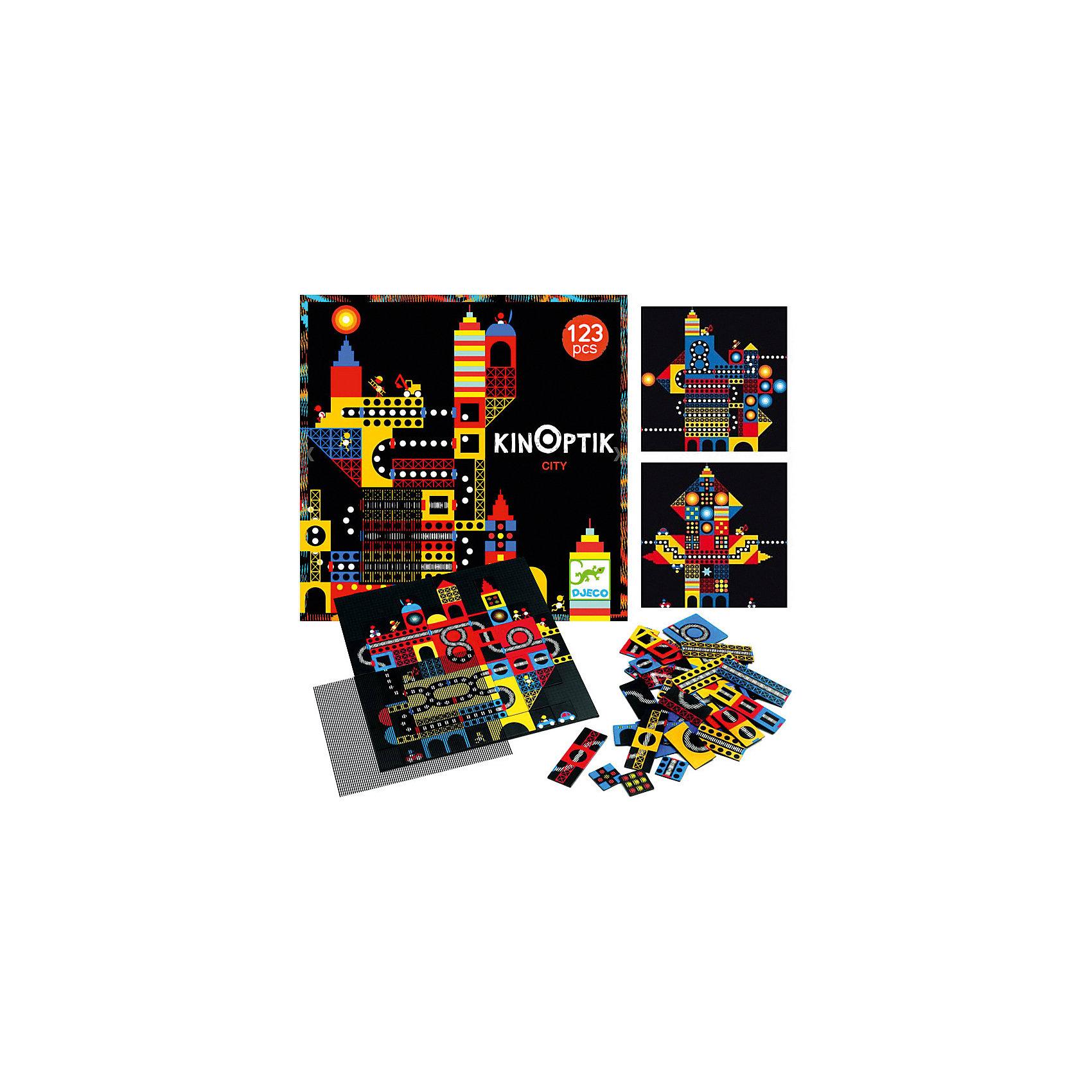 Пазл-аниматор Город, DJECOРазвивающие игры<br>Пазл-аниматор Город, DJECO (ДЖЕКО).<br><br>Характеристики:<br><br>- Пазл рекомендован для детей в возрасте от 6 до 10 лет<br>- В наборе: магнитный лист-основа 30х30 см, 2 оптик-листа, 123 части пазла, красочная инструкция с примерами<br>- Материал: картон, пластик<br>- Пазл-аниматор продается в красивой коробке и идеально подходит для подарка<br>- Размер упаковки: 32х32х5 см.<br><br>Пазл-аниматор Город от французского производителя игрушек Djeco (Джеко) – уникальная магнитная игра, с которой ребенок сможет собрать удивительные анимированные картинки! В комплекте вы найдете магнитную доску-основу, а также множество разных деталей пазла. С помощью деталей пазла и книжки с примерами ребенок должен собрать картинки города будущего, а затем, приложив специальный прозрачный лист с полосками, провести по картинке. Отдельные детали пазла станут анимированными и начнут двигаться. Удивительная картинка города оживет прямо на столе и приведет ребенка в восторг! Пазл прекрасно развивает логику и сообразительность ребенка, учит малыша внимательности и усидчивости. Все детали изготовлены из высококачественного материала. Французская компания Джеко производит развивающие игрушки и игры для детей, а также наборы для творчества и детали интерьера детской комнаты. Все товары Джеко отличаются высочайшим качеством, необычной идеей исполнения. Изображения и дизайн специально разрабатываются молодыми французскими художниками.<br><br>Пазл-аниматор Город, DJECO (ДЖЕКО) можно купить в нашем интернет-магазине.<br><br>Ширина мм: 320<br>Глубина мм: 320<br>Высота мм: 50<br>Вес г: 400<br>Возраст от месяцев: 24<br>Возраст до месяцев: 2147483647<br>Пол: Унисекс<br>Возраст: Детский<br>SKU: 5299146