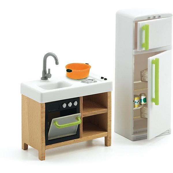 Мебель для кукольного дома, Кухня, DJECOМебель для кукол<br>Мебель для кукольного дома, Кухня, DJECO (ДЖЕКО).<br><br>Характеристики:<br><br>- В набор входит: холодильник с морозильником; тумба с мойкой, духовкой, плитой и полочками; кастрюлька; 3 баночки с напитками<br>- Материал: древесина, пластик<br>- Упаковка: подарочная коробка<br>- Размер упаковки: 12,5х15,5х4,5 см.<br><br>Мебель для кукольного дома Кухня от французского производителя Djeco (Джеко) – превосходный набор для игр, который приведет в восторг всех любительниц игр с куклами и кукольными домиками. Мебель для кухни станет прекрасным дополнением для сюжетных игр ребенка. В процессе такой игры у ребенка будет прекрасно развиваться фантазия и воображение, усидчивость и внимание. Все детали изготовлены из высококачественных безопасных для ребенка материалов.<br><br>Мебель для кукольного дома, Кухня, DJECO (ДЖЕКО) можно купить в нашем интернет-магазине.<br><br>Ширина мм: 125<br>Глубина мм: 155<br>Высота мм: 45<br>Вес г: 1000<br>Возраст от месяцев: 48<br>Возраст до месяцев: 2147483647<br>Пол: Женский<br>Возраст: Детский<br>SKU: 5299149
