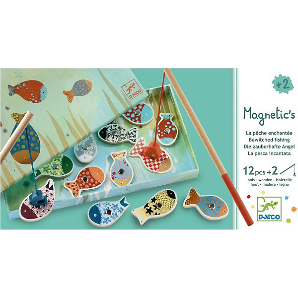 Магнитная игра рыбалка Мечты, DJECOНастольные игры для всей семьи<br>Магнитная игра рыбалка Мечты, DJECO (ДЖЕКО).<br><br>Характеристики:<br><br>- Игра предназначена для детей от 2-х лет<br>- В комплект игры входят: морские обитатели с магнитом - 12 штук, удочки - 2 штуки<br>- Материал: древесина, картон<br>- Игра продается в красочной стильной коробке и идеально подходит в качестве подарка<br>- Размер упаковки: 28 х 15 х 2,5 см.<br><br>Магнитная игра рыбалка Мечты от Djeco (Джеко) - игра для юных рыболовов, желающих поймать на удочку красивую рыбку с симпатичным узором. Рыбалка Djeco - это интереснейшая развивающая игра, в которой малышу придется ловить красочных рыбок игрушечной удочкой с большим магнитным безопасным крючком. Магнитная игра рыбалка Мечты Djeco поможет не только развить ловкость и моторику малыша, но и даст полезный навык, который, возможно, будет основой будущего хобби. Все детали игры очень высококачественны и безопасны для ребенка, что подтверждается сертификатами.<br><br>Магнитную игру рыбалку Мечты, DJECO (ДЖЕКО) можно купить в нашем интернет-магазине.<br>Ширина мм: 280; Глубина мм: 150; Высота мм: 250; Вес г: 350; Возраст от месяцев: 24; Возраст до месяцев: 2147483647; Пол: Унисекс; Возраст: Детский; SKU: 5299153;