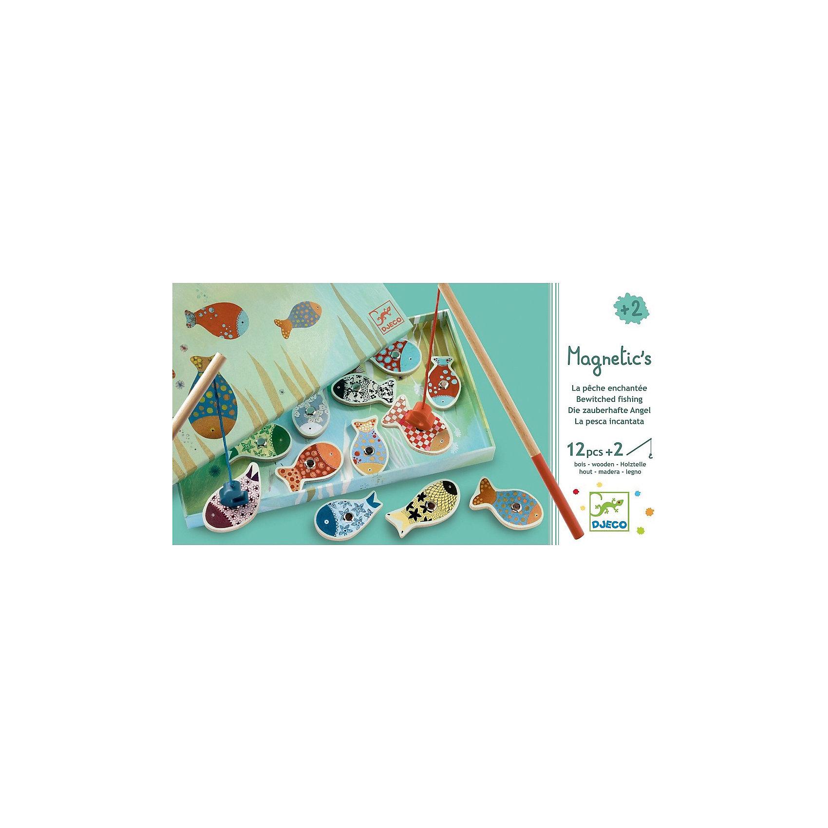 Магнитная игра рыбалка Мечты, DJECOРазвивающие игры<br>Магнитная игра рыбалка Мечты, DJECO (ДЖЕКО).<br><br>Характеристики:<br><br>- Игра предназначена для детей от 2-х лет<br>- В комплект игры входят: морские обитатели с магнитом - 12 штук, удочки - 2 штуки<br>- Материал: древесина, картон<br>- Игра продается в красочной стильной коробке и идеально подходит в качестве подарка<br>- Размер упаковки: 28 х 15 х 2,5 см.<br><br>Магнитная игра рыбалка Мечты от Djeco (Джеко) - игра для юных рыболовов, желающих поймать на удочку красивую рыбку с симпатичным узором. Рыбалка Djeco - это интереснейшая развивающая игра, в которой малышу придется ловить красочных рыбок игрушечной удочкой с большим магнитным безопасным крючком. Магнитная игра рыбалка Мечты Djeco поможет не только развить ловкость и моторику малыша, но и даст полезный навык, который, возможно, будет основой будущего хобби. Все детали игры очень высококачественны и безопасны для ребенка, что подтверждается сертификатами.<br><br>Магнитную игру рыбалку Мечты, DJECO (ДЖЕКО) можно купить в нашем интернет-магазине.<br><br>Ширина мм: 280<br>Глубина мм: 150<br>Высота мм: 250<br>Вес г: 350<br>Возраст от месяцев: 24<br>Возраст до месяцев: 2147483647<br>Пол: Унисекс<br>Возраст: Детский<br>SKU: 5299153