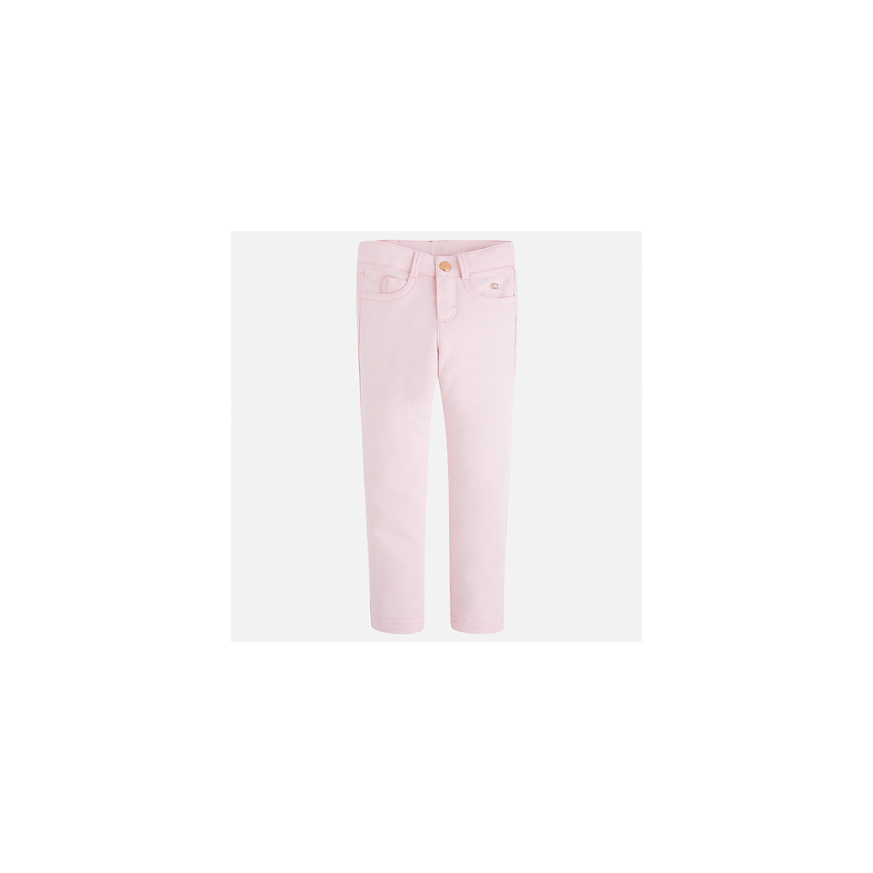 Леггинсы для девочки MayoralБрюки<br>Характеристики товара:<br><br>• цвет: розовый<br>• состав: 95% хлопок, 5% эластан<br>• шлевки<br>• эластичный материал<br>• карманы<br>• приятный оттенок<br>• страна бренда: Испания<br><br>Модные леггинсы для девочки смогут разнообразить гардероб ребенка и украсить наряд. Они отлично сочетаются с майками, футболками, блузками. Красивый оттенок позволяет подобрать к вещи верх разных расцветок. В составе материала - натуральный хлопок, гипоаллергенный, приятный на ощупь, дышащий. Леггинсы отлично сидят и не стесняют движения.<br><br>Одежда, обувь и аксессуары от испанского бренда Mayoral полюбились детям и взрослым по всему миру. Модели этой марки - стильные и удобные. Для их производства используются только безопасные, качественные материалы и фурнитура. Порадуйте ребенка модными и красивыми вещами от Mayoral! <br><br>Леггинсы для девочки от испанского бренда Mayoral (Майорал) можно купить в нашем интернет-магазине.<br><br>Ширина мм: 123<br>Глубина мм: 10<br>Высота мм: 149<br>Вес г: 209<br>Цвет: розовый<br>Возраст от месяцев: 96<br>Возраст до месяцев: 108<br>Пол: Женский<br>Возраст: Детский<br>Размер: 134,92,98,104,110,116,122,128<br>SKU: 5300040