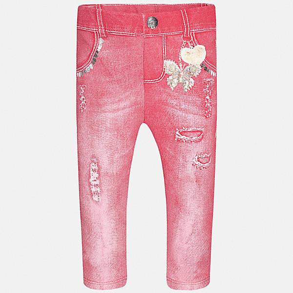 Леггинсы для девочки MayoralЛеггинсы<br>Характеристики товара:<br><br>• цвет: розовый<br>• состав: 95% хлопок, 5% эластан<br>• шлевки<br>• эластичный материал<br>• принт<br>• имитация потертости<br>• страна бренда: Испания<br><br>Модные леггинсы для девочки смогут разнообразить гардероб ребенка и украсить наряд. Они отлично сочетаются с майками, футболками, блузками. Красивый оттенок позволяет подобрать к вещи верх разных расцветок. В составе материала - натуральный хлопок, гипоаллергенный, приятный на ощупь, дышащий. Леггинсы отлично сидят и не стесняют движения.<br><br>Одежда, обувь и аксессуары от испанского бренда Mayoral полюбились детям и взрослым по всему миру. Модели этой марки - стильные и удобные. Для их производства используются только безопасные, качественные материалы и фурнитура. Порадуйте ребенка модными и красивыми вещами от Mayoral! <br><br>Леггинсы для девочки от испанского бренда Mayoral (Майорал) можно купить в нашем интернет-магазине.<br>Ширина мм: 123; Глубина мм: 10; Высота мм: 149; Вес г: 209; Цвет: лиловый; Возраст от месяцев: 6; Возраст до месяцев: 9; Пол: Женский; Возраст: Детский; Размер: 74,92,86,80; SKU: 5300077;