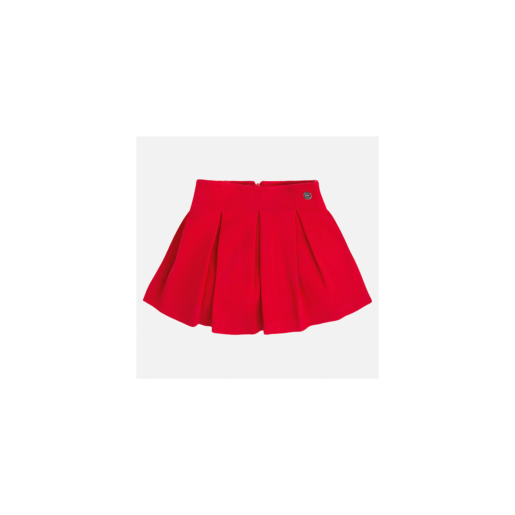 Юбка для девочки MayoralЮбки<br>Характеристики товара:<br><br>• цвет: красный<br>• состав: 63% хлопок, 36% полиэстер, 1% эластан<br>• молния<br>• складки<br>• металлический логотип<br>• страна бренда: Испания<br><br>Эффектная юбка для девочки поможет разнообразить гардероб ребенка и создать эффектный наряд. Она отлично сочетаются с майками, футболками, блузками. Универсальный цвет позволяет подобрать к вещи верх разных расцветок. Юбка отлично сидит и не стесняет движения.<br><br>Одежда, обувь и аксессуары от испанского бренда Mayoral полюбились детям и взрослым по всему миру. Модели этой марки - стильные и удобные. Для их производства используются только безопасные, качественные материалы и фурнитура. Порадуйте ребенка модными и красивыми вещами от Mayoral! <br><br>Юбку для девочки от испанского бренда Mayoral (Майорал) можно купить в нашем интернет-магазине.<br><br>Ширина мм: 207<br>Глубина мм: 10<br>Высота мм: 189<br>Вес г: 183<br>Цвет: красный<br>Возраст от месяцев: 96<br>Возраст до месяцев: 108<br>Пол: Женский<br>Возраст: Детский<br>Размер: 134,92,98,104,110,116,122,128<br>SKU: 5300551