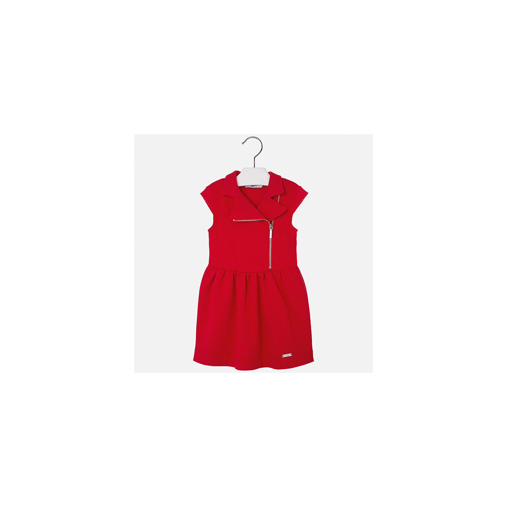 Платье для девочки MayoralПлатья и сарафаны<br>Характеристики товара:<br><br>• цвет: красный<br>• состав: 62% хлопок, 37% полиэстер, 1% эластан<br>• молния<br>• приталенный силуэт<br>• короткие рукава<br>• металлический логотип<br>• страна бренда: Испания<br><br>Стильное платье для девочки поможет разнообразить гардероб ребенка и создать эффектный наряд. Оно подойдет для различных случаев. Красивый оттенок позволяет подобрать к вещи обувь разных расцветок. Платье хорошо сидит по фигуре. В составе материала - натуральный хлопок, гипоаллергенный, приятный на ощупь, дышащий.<br><br>Одежда, обувь и аксессуары от испанского бренда Mayoral полюбились детям и взрослым по всему миру. Модели этой марки - стильные и удобные. Для их производства используются только безопасные, качественные материалы и фурнитура. Порадуйте ребенка модными и красивыми вещами от Mayoral! <br><br>Платье для девочки от испанского бренда Mayoral (Майорал) можно купить в нашем интернет-магазине.<br><br>Ширина мм: 236<br>Глубина мм: 16<br>Высота мм: 184<br>Вес г: 177<br>Цвет: красный<br>Возраст от месяцев: 60<br>Возраст до месяцев: 72<br>Пол: Женский<br>Возраст: Детский<br>Размер: 116,134,110,122,128<br>SKU: 5300614