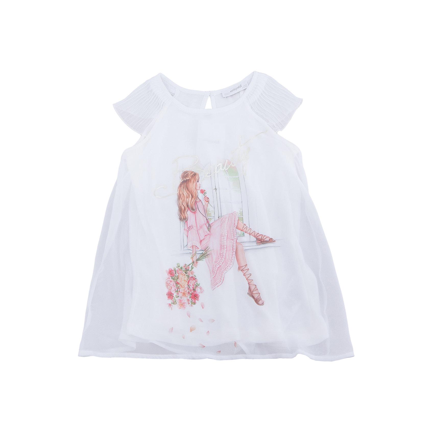 Блузка для девочки MayoralПлатья и сарафаны<br>Характеристики товара:<br><br>• цвет: молочный<br>• состав: 100% полиэстер<br>• подкладка: 100% вискоза<br>• плечи открыты<br>• пуговица сзади<br>• страна бренда: Испания<br><br>Симпатичная качественная блузка для девочки поможет разнообразить гардероб ребенка и украсить наряд. Интересная отделка модели делает её нарядной и оригинальной. <br><br>Блузку для девочки от испанского бренда Mayoral (Майорал) можно купить в нашем интернет-магазине.<br><br>Ширина мм: 186<br>Глубина мм: 87<br>Высота мм: 198<br>Вес г: 197<br>Цвет: бежевый<br>Возраст от месяцев: 132<br>Возраст до месяцев: 144<br>Пол: Женский<br>Возраст: Детский<br>Размер: 164,152,128/134,140,158<br>SKU: 5300856