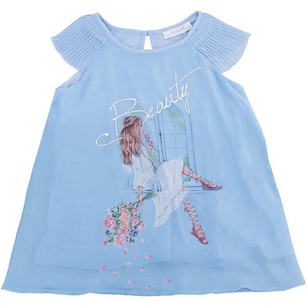Блузка для девочки MayoralБлузки и рубашки<br>Характеристики товара:<br><br>• цвет: голубой<br>• состав: 100% полиэстер<br>• подкладка: 100% вискоза<br>• плечи открыты<br>• пуговица сзади<br>• страна бренда: Испания<br><br>Симпатичная качественная блузка для девочки поможет разнообразить гардероб ребенка и украсить наряд. Интересная отделка модели делает её нарядной и оригинальной. <br><br>Блузку для девочки от испанского бренда Mayoral (Майорал) можно купить в нашем интернет-магазине.<br>Ширина мм: 186; Глубина мм: 87; Высота мм: 198; Вес г: 197; Цвет: голубой; Возраст от месяцев: 144; Возраст до месяцев: 156; Пол: Женский; Возраст: Детский; Размер: 158,164,152,140,128/134; SKU: 5300862;