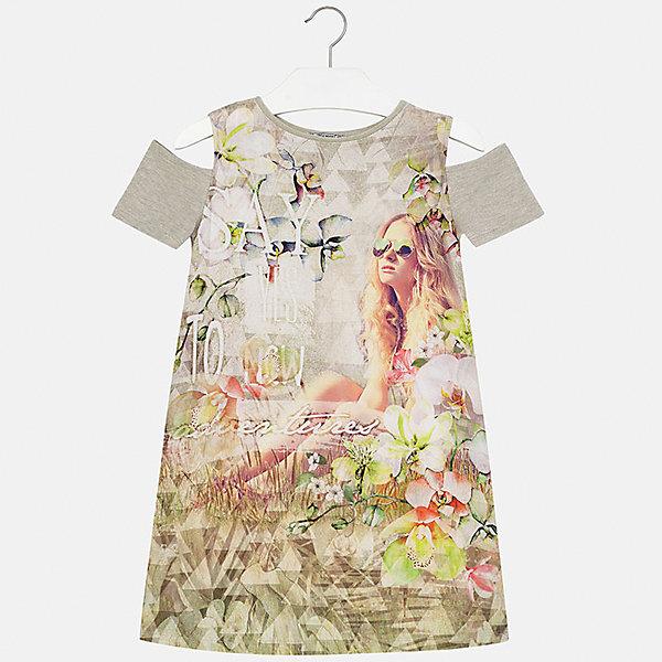 Платье для девочки MayoralПлатья и сарафаны<br>Характеристики товара:<br><br>• цвет: мультиколор<br>• состав: 44% вискоза, 40% полиэстер, 10% металлизированная нить, 6% хлопок<br>• без застежки<br>• открытые плечи<br>• короткие рукава<br>• декорировано принтом<br>• страна бренда: Испания<br><br>Модное платье для девочки поможет разнообразить гардероб ребенка и создать эффектный наряд. Оно подойдет для различных случаев. Красивый оттенок позволяет подобрать к вещи обувь разных расцветок. Платье хорошо сидит по фигуре. <br><br>Одежда, обувь и аксессуары от испанского бренда Mayoral полюбились детям и взрослым по всему миру. Модели этой марки - стильные и удобные. Для их производства используются только безопасные, качественные материалы и фурнитура. Порадуйте ребенка модными и красивыми вещами от Mayoral! <br><br>Платье для девочки от испанского бренда Mayoral (Майорал) можно купить в нашем интернет-магазине.<br><br>Ширина мм: 236<br>Глубина мм: 16<br>Высота мм: 184<br>Вес г: 177<br>Цвет: зеленый<br>Возраст от месяцев: 144<br>Возраст до месяцев: 156<br>Пол: Женский<br>Возраст: Детский<br>Размер: 158,128/134,170,164,152,140<br>SKU: 5300945