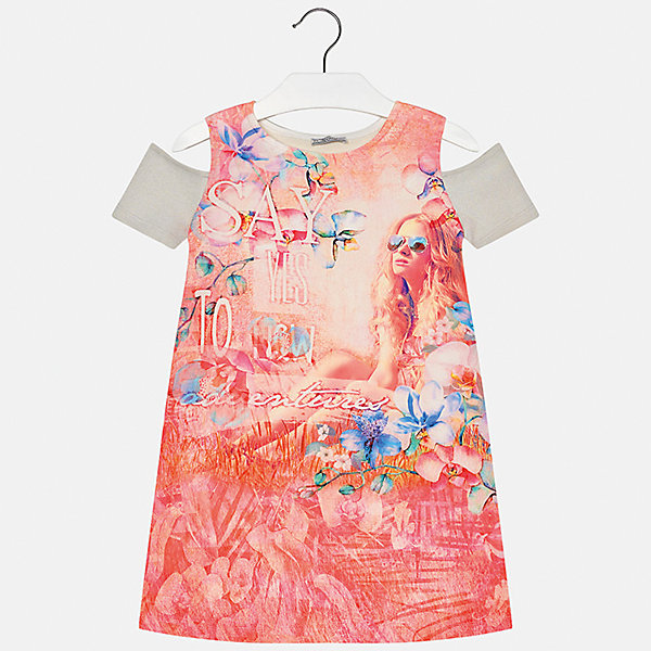 Платье для девочки MayoralЛетние платья и сарафаны<br>Характеристики товара:<br><br>• цвет: оранжевый<br>• состав: 44% вискоза, 40% полиэстер, 10% металлизированная нить, 6% хлопок<br>• без застежки<br>• открытые плечи<br>• короткие рукава<br>• декорировано принтом<br>• страна бренда: Испания<br><br>Модное платье для девочки поможет разнообразить гардероб ребенка и создать эффектный наряд. Оно подойдет для различных случаев. Красивый оттенок позволяет подобрать к вещи обувь разных расцветок. Платье хорошо сидит по фигуре. <br><br>Платье для девочки от испанского бренда Mayoral (Майорал) можно купить в нашем интернет-магазине.<br><br>Ширина мм: 236<br>Глубина мм: 16<br>Высота мм: 184<br>Вес г: 177<br>Цвет: розовый<br>Возраст от месяцев: 156<br>Возраст до месяцев: 168<br>Пол: Женский<br>Возраст: Детский<br>Размер: 164,128/134,170,158,152,140<br>SKU: 5300952