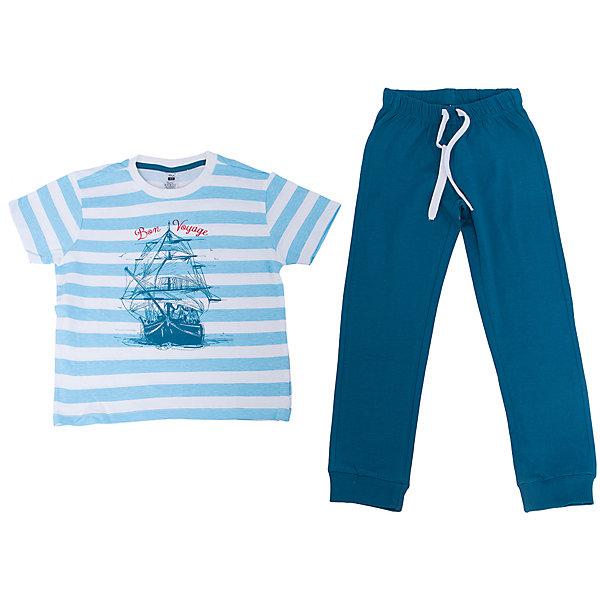 Пижама для мальчика SELAПижамы и сорочки<br>Пижама для мальчика SELA<br><br>Характеристики:<br><br>- цвет: синий<br>- в комплект входит: штаны, футболка<br>- свободный силуэт<br>- эластичные манжеты штанов<br>- состав: хлопок 100%<br>- для детей в возрасте: от 2 до 6 лет<br>- страна производитель: Индия<br><br>Яркая пижама синего цвета из новой коллекции весна 2017 от популярного бренда одежды SELA (Сэла). Пижама с большим кораблем отлично подойдет для использования на каждый день в прохладное время года. Натуральная хлопчатобумажная ткань изделия отлично пропускает воздух и позволяет коже дышать. Свободный силуэт пижамы обеспечивает необходимый комфорт во время сна. Морская тематика новой пижамы поможет отправиться на поиски приключений в мир приятных и увлекательных снов. <br><br>Пижаму для мальчика SELA можно купить в нашем интернет-магазине.<br><br>Ширина мм: 281<br>Глубина мм: 70<br>Высота мм: 188<br>Вес г: 295<br>Цвет: синий<br>Возраст от месяцев: 24<br>Возраст до месяцев: 36<br>Пол: Мужской<br>Возраст: Детский<br>Размер: 92/98,140/146,128/134,116/122,104/110<br>SKU: 5302875
