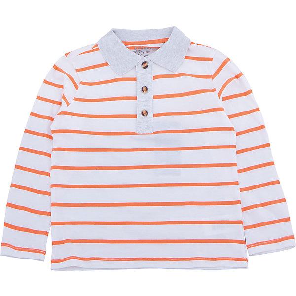 Рубашка-поло для мальчика SELAФутболки с длинным рукавом<br>Характеристики товара:<br><br>• цвет: белый в полоску<br>• состав: 100% хлопок<br>• пуговицы<br>• сезон: демисезон<br>• рукава длинные<br>• отложной воротник<br>• коллекция весна-лето 2017<br>• страна бренда: Российская Федерация<br><br>Вещи из новой коллекции SELA продолжают радовать удобством! Эта футболка с длинным рукавом для мальчика поможет разнообразить гардероб ребенка и обеспечить комфорт. Она отлично сочетается с шортами и брюками. Стильная и удобная вещь!<br><br>Одежда, обувь и аксессуары от российского бренда SELA не зря пользуются большой популярностью у детей и взрослых! <br><br>Рубашку-поло для мальчика от популярного бренда SELA (СЕЛА) можно купить в нашем интернет-магазине.<br>Ширина мм: 174; Глубина мм: 10; Высота мм: 169; Вес г: 157; Цвет: белый; Возраст от месяцев: 18; Возраст до месяцев: 24; Пол: Мужской; Возраст: Детский; Размер: 92,116,98,104,110; SKU: 5303240;