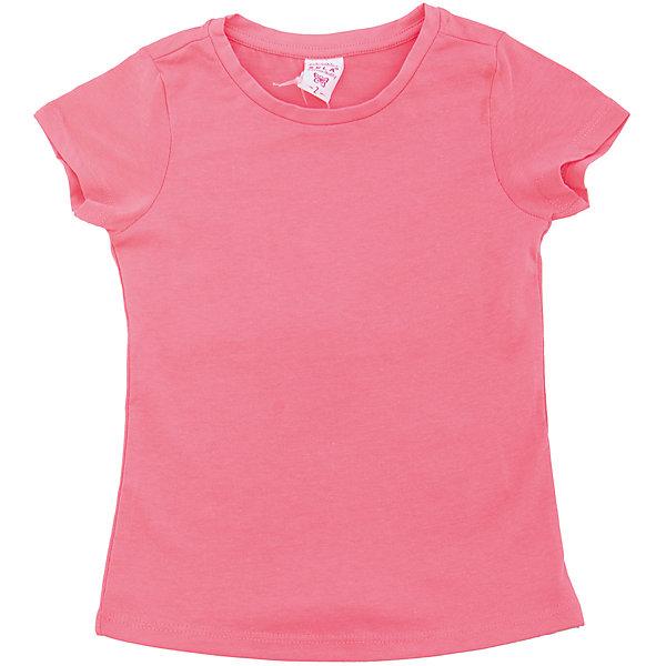 Футболка  для девочки SELAФутболки, поло и топы<br>Характеристики товара:<br><br>• цвет: розовый<br>• состав: 100% хлопок<br>• однотонная<br>• короткие рукава<br>• округлый горловой вырез<br>• коллекция весна-лето 2017<br>• страна бренда: Российская Федерация<br><br>В новой коллекции SELA отличные модели одежды! Эта футболка для девочки поможет разнообразить гардероб ребенка и обеспечить комфорт. Она отлично сочетается с юбками и брюками. Удобная базовая вещь!<br><br>Одежда, обувь и аксессуары от российского бренда SELA не зря пользуются большой популярностью у детей и взрослых! Модели этой марки - стильные и удобные, цена при этом неизменно остается доступной. Для их производства используются только безопасные, качественные материалы и фурнитура. Новая коллекция поддерживает хорошие традиции бренда! <br><br>Футболку для девочки от популярного бренда SELA (СЕЛА) можно купить в нашем интернет-магазине.<br><br>Ширина мм: 230<br>Глубина мм: 40<br>Высота мм: 220<br>Вес г: 250<br>Цвет: розовый<br>Возраст от месяцев: 60<br>Возраст до месяцев: 72<br>Пол: Женский<br>Возраст: Детский<br>Размер: 116,92,98,104,110<br>SKU: 5303330