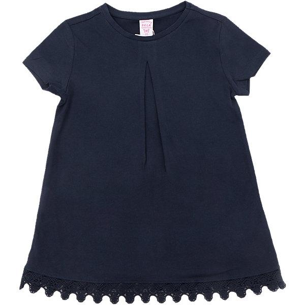 Футболка для девочки SELAФутболки, поло и топы<br>Характеристики товара:<br><br>• цвет: синий<br>• состав: 100% хлопок<br>• декорирована кружевом<br>• короткие рукава<br>• округлый горловой вырез<br>• страна бренда: Российская Федерация<br><br>В новой коллекции SELA отличные модели одежды! Эта футболка для девочки поможет разнообразить гардероб ребенка и обеспечить комфорт. Она отлично сочетается с юбками и брюками. Стильная и удобная вещь!<br><br>Футболку для девочки от популярного бренда SELA (СЕЛА) можно купить в нашем интернет-магазине.<br><br>Ширина мм: 230<br>Глубина мм: 40<br>Высота мм: 220<br>Вес г: 250<br>Цвет: синий<br>Возраст от месяцев: 96<br>Возраст до месяцев: 108<br>Пол: Женский<br>Возраст: Детский<br>Размер: 134,140,128,122,116,152,146<br>SKU: 5303618