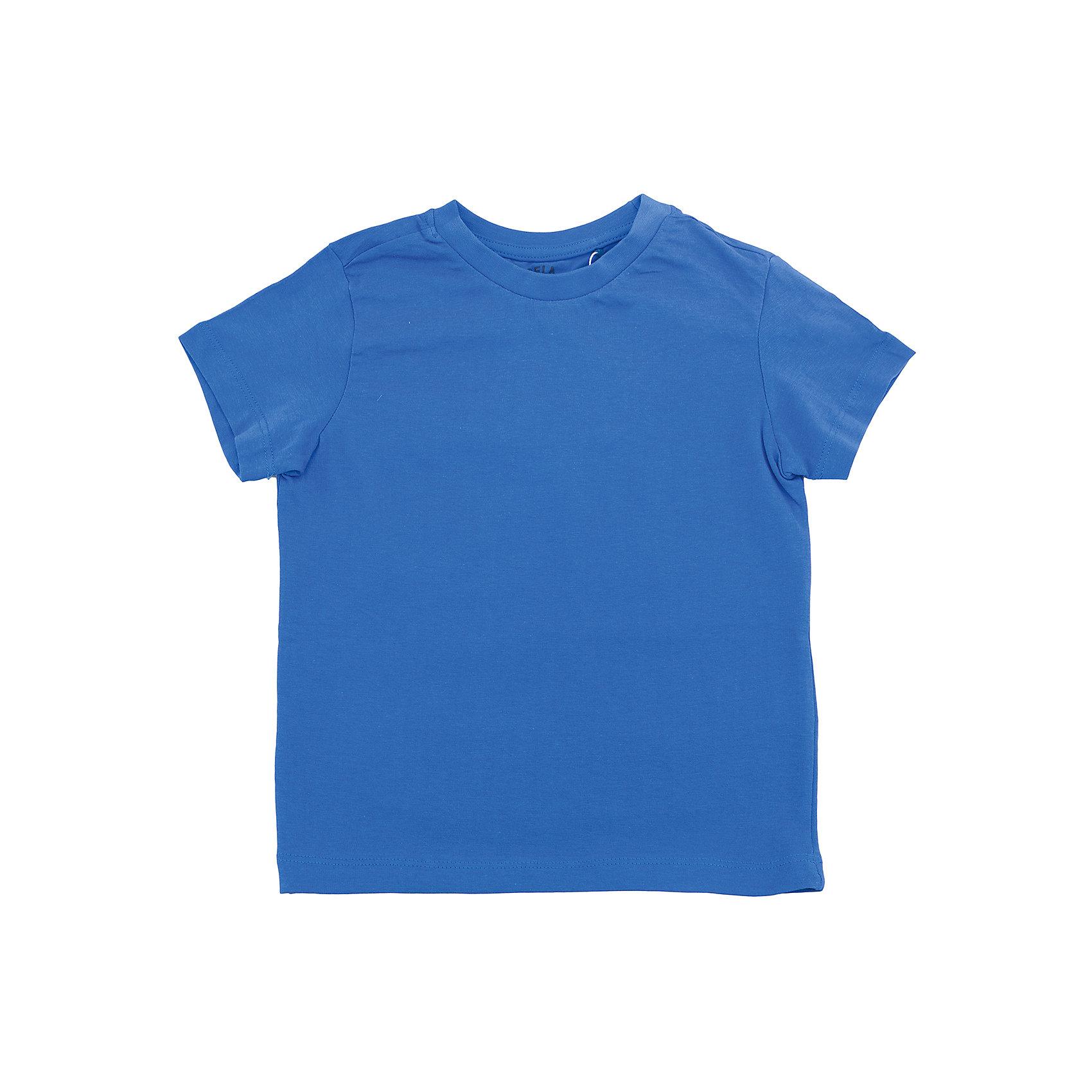 Футболка  для мальчика SELAХарактеристики товара:<br><br>• цвет: синий<br>• состав: 100% хлопок<br>• однотонная<br>• короткие рукава<br>• округлый горловой вырез<br>• коллекция весна-лето 2017<br>• страна бренда: Российская Федерация<br><br>В новой коллекции SELA отличные модели одежды! Эта футболка для мальчика поможет разнообразить гардероб ребенка и обеспечить комфорт. Она отлично сочетается с джинсами и брюками. Удобная базовая вещь!<br><br>Одежда, обувь и аксессуары от российского бренда SELA не зря пользуются большой популярностью у детей и взрослых! Модели этой марки - стильные и удобные, цена при этом неизменно остается доступной. Для их производства используются только безопасные, качественные материалы и фурнитура. Новая коллекция поддерживает хорошие традиции бренда! <br><br>Футболку для мальчика от популярного бренда SELA (СЕЛА) можно купить в нашем интернет-магазине.<br><br>Ширина мм: 230<br>Глубина мм: 40<br>Высота мм: 220<br>Вес г: 250<br>Цвет: синий<br>Возраст от месяцев: 60<br>Возраст до месяцев: 72<br>Пол: Мужской<br>Возраст: Детский<br>Размер: 116,92,98,104,110<br>SKU: 5303917