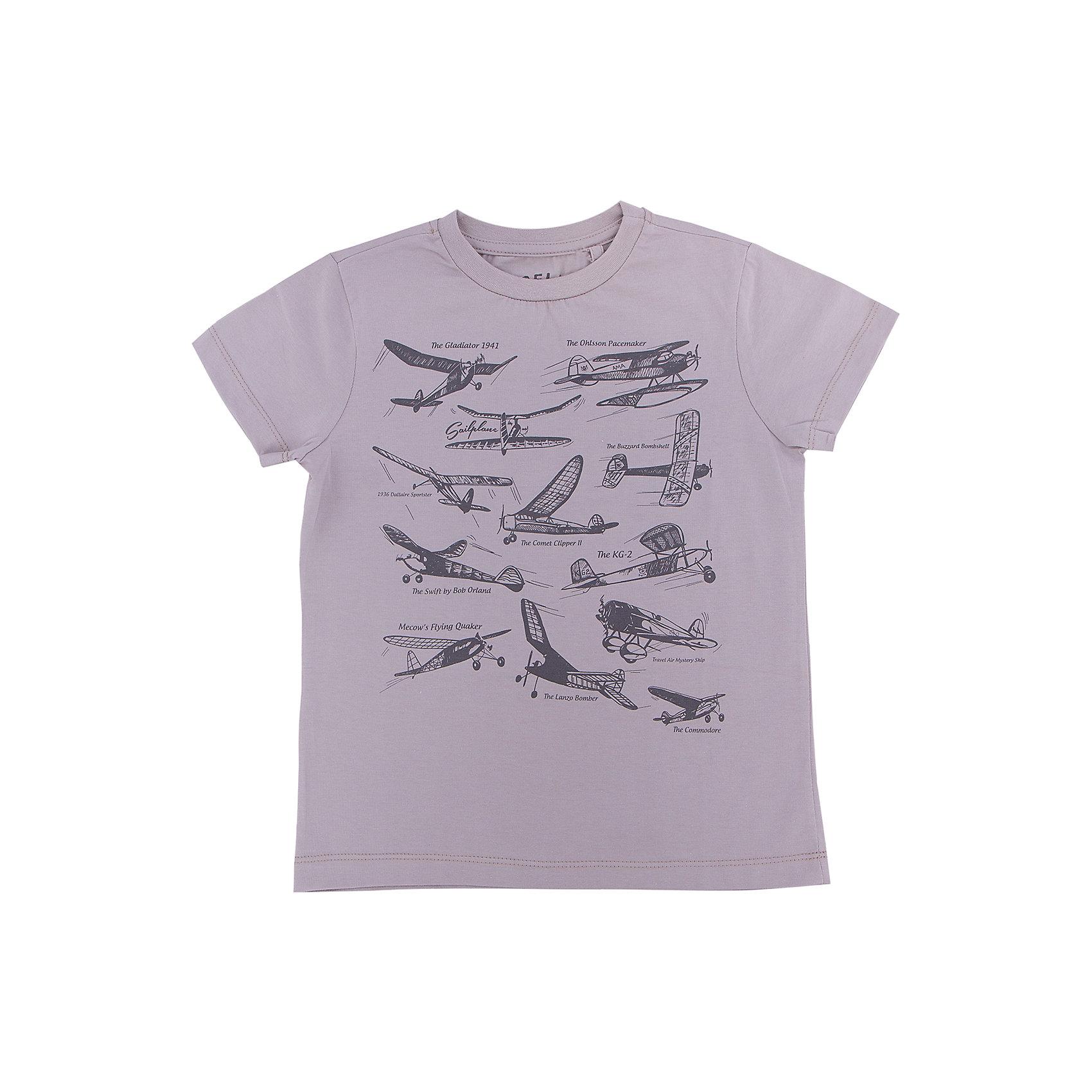 Футболка  для мальчика SELAХарактеристики товара:<br><br>• цвет: серый<br>• состав: 100% хлопок<br>• принт<br>• короткие рукава<br>• округлый горловой вырез<br>• коллекция весна-лето 2017<br>• страна бренда: Российская Федерация<br><br>В новой коллекции SELA отличные модели одежды! Эта футболка для мальчика поможет разнообразить гардероб ребенка и обеспечить комфорт. Она отлично сочетается с джинсами и брюками. В составе ткани -только дышащий гипоаллергенный хлопок!<br><br>Одежда, обувь и аксессуары от российского бренда SELA не зря пользуются большой популярностью у детей и взрослых! Модели этой марки - стильные и удобные, цена при этом неизменно остается доступной. Для их производства используются только безопасные, качественные материалы и фурнитура. Новая коллекция поддерживает хорошие традиции бренда! <br><br>Футболку для мальчика от популярного бренда SELA (СЕЛА) можно купить в нашем интернет-магазине.<br><br>Ширина мм: 230<br>Глубина мм: 40<br>Высота мм: 220<br>Вес г: 250<br>Цвет: серый<br>Возраст от месяцев: 96<br>Возраст до месяцев: 108<br>Пол: Мужской<br>Возраст: Детский<br>Размер: 134,140,146,152,116,122,128<br>SKU: 5304025