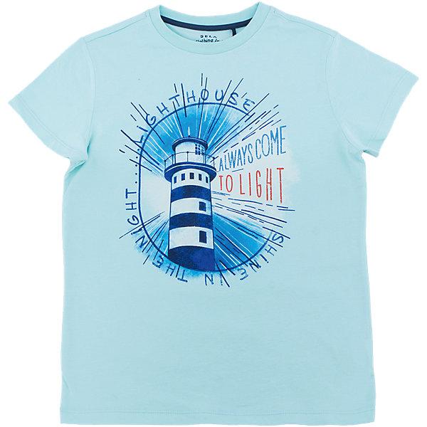 Футболка  для мальчика SELAФутболки, поло и топы<br>Характеристики товара:<br><br>• состав: 100% хлопок<br>• декорирована принтом<br>• сезон: лето<br>• рукава короткие<br>• округлый горловой вырез<br>• страна бренда: Россия<br><br>Вещи из новой коллекции SELA продолжают радовать удобством! Эта футболка для мальчика поможет разнообразить гардероб ребенка и обеспечить комфорт. Она отлично сочетается с шортами и брюками. Стильная и удобная вещь!<br>Одежда, обувь и аксессуары от российского бренда SELA не зря пользуются большой популярностью у детей и взрослых! Модели этой марки - стильные и удобные, цена при этом неизменно остается доступной. Для их производства используются только безопасные, качественные материалы и фурнитура. Новая коллекция поддерживает хорошие традиции бренда! <br><br>Футболку для мальчика от популярного бренда SELA (СЕЛА) можно купить в нашем интернет-магазине.<br>Ширина мм: 230; Глубина мм: 40; Высота мм: 220; Вес г: 250; Цвет: голубой; Возраст от месяцев: 132; Возраст до месяцев: 144; Пол: Мужской; Возраст: Детский; Размер: 152,140,134,128,122,146; SKU: 5304102;