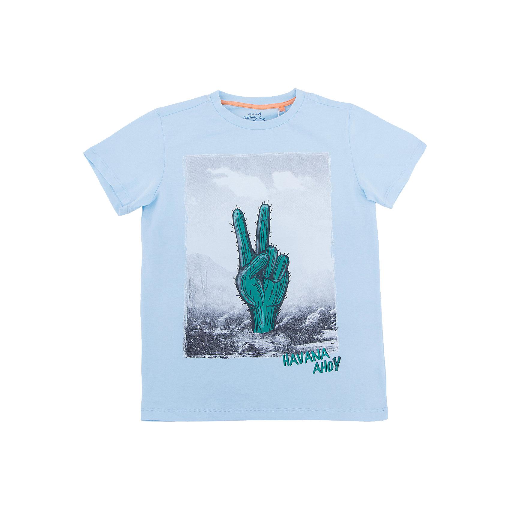 Футболка с длинным рукавом для мальчика SELAФутболки, поло и топы<br>Футболка с длинным рукавом для мальчика от известного бренда SELA<br>Состав:<br>100% хлопок<br><br>Ширина мм: 230<br>Глубина мм: 40<br>Высота мм: 220<br>Вес г: 250<br>Цвет: голубой<br>Возраст от месяцев: 84<br>Возраст до месяцев: 96<br>Пол: Мужской<br>Возраст: Детский<br>Размер: 128,134,140,146,152,122<br>SKU: 5304218