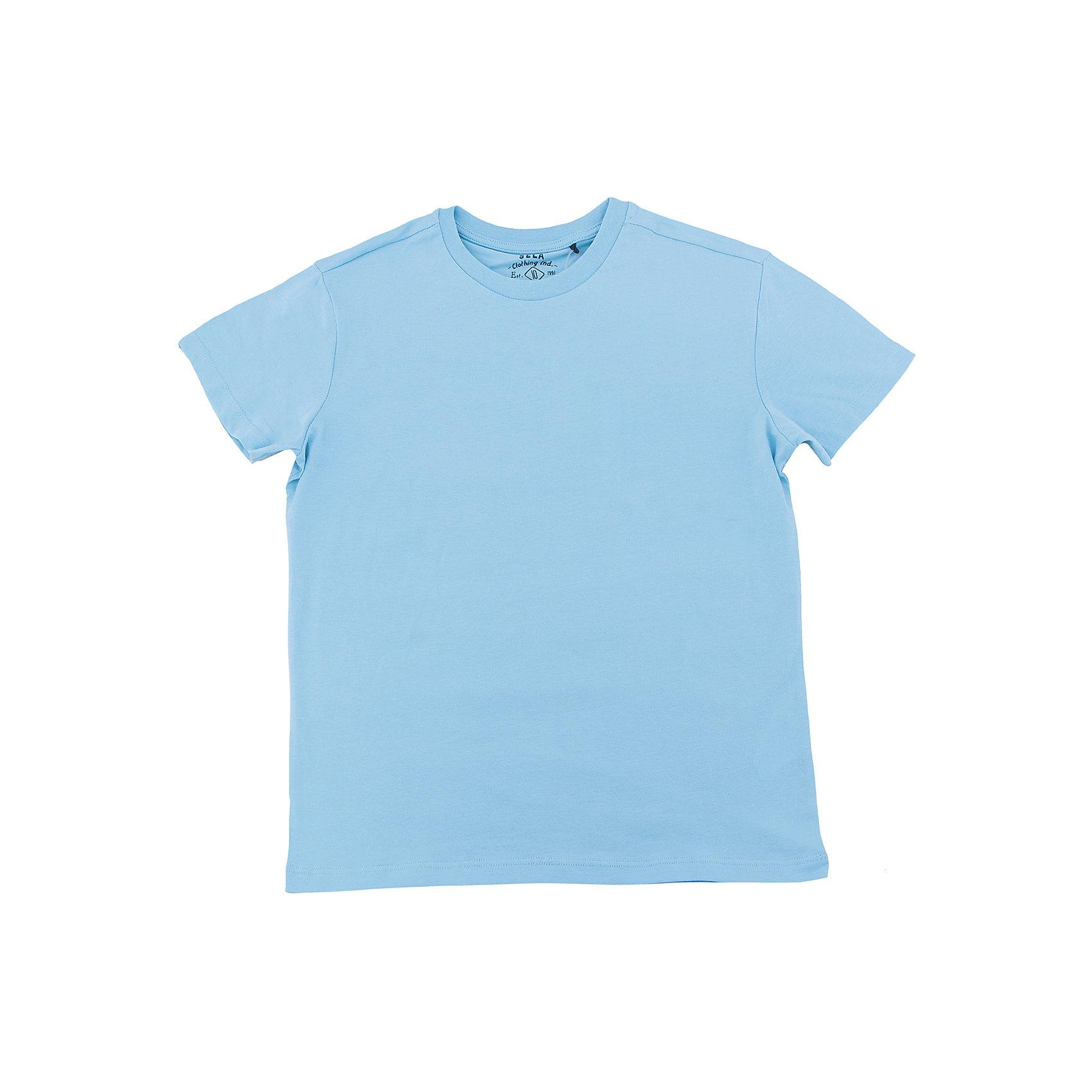 Футболка  мальчика SELAФутболки, поло и топы<br>Характеристики товара:<br><br>• цвет: голубой<br>• состав: 100% хлопок<br>• однотонная<br>• короткие рукава<br>• округлый горловой вырез<br>• коллекция весна-лето 2017<br>• страна бренда: Российская Федерация<br><br>В новой коллекции SELA отличные модели одежды! Эта футболка для мальчика поможет разнообразить гардероб ребенка и обеспечить комфорт. Она отлично сочетается с джинсами и брюками. Удобная базовая вещь!<br><br>Одежда, обувь и аксессуары от российского бренда SELA не зря пользуются большой популярностью у детей и взрослых! Модели этой марки - стильные и удобные, цена при этом неизменно остается доступной. Для их производства используются только безопасные, качественные материалы и фурнитура. Новая коллекция поддерживает хорошие традиции бренда! <br><br>Футболку для мальчика от популярного бренда SELA (СЕЛА) можно купить в нашем интернет-магазине.<br><br>Ширина мм: 230<br>Глубина мм: 40<br>Высота мм: 220<br>Вес г: 250<br>Цвет: голубой<br>Возраст от месяцев: 108<br>Возраст до месяцев: 120<br>Пол: Мужской<br>Возраст: Детский<br>Размер: 140,134,146,152,116,122,128<br>SKU: 5304311