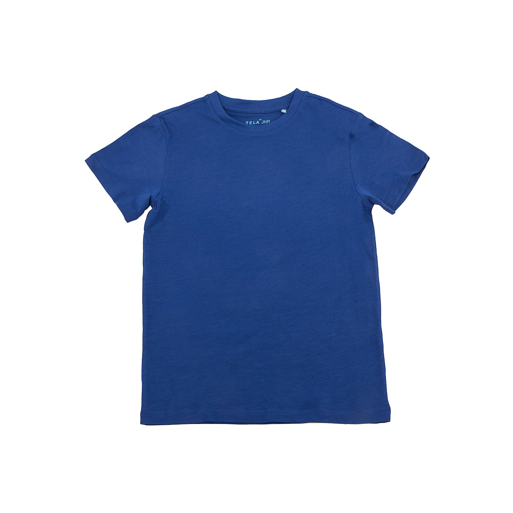 Футболка  для мальчика SELAФутболки, поло и топы<br>Футболка  для мальчика от известного бренда SELA<br>Состав:<br>100% хлопок<br><br>Ширина мм: 230<br>Глубина мм: 40<br>Высота мм: 220<br>Вес г: 250<br>Цвет: синий<br>Возраст от месяцев: 96<br>Возраст до месяцев: 108<br>Пол: Мужской<br>Возраст: Детский<br>Размер: 134,140,146,152,122,128<br>SKU: 5304388
