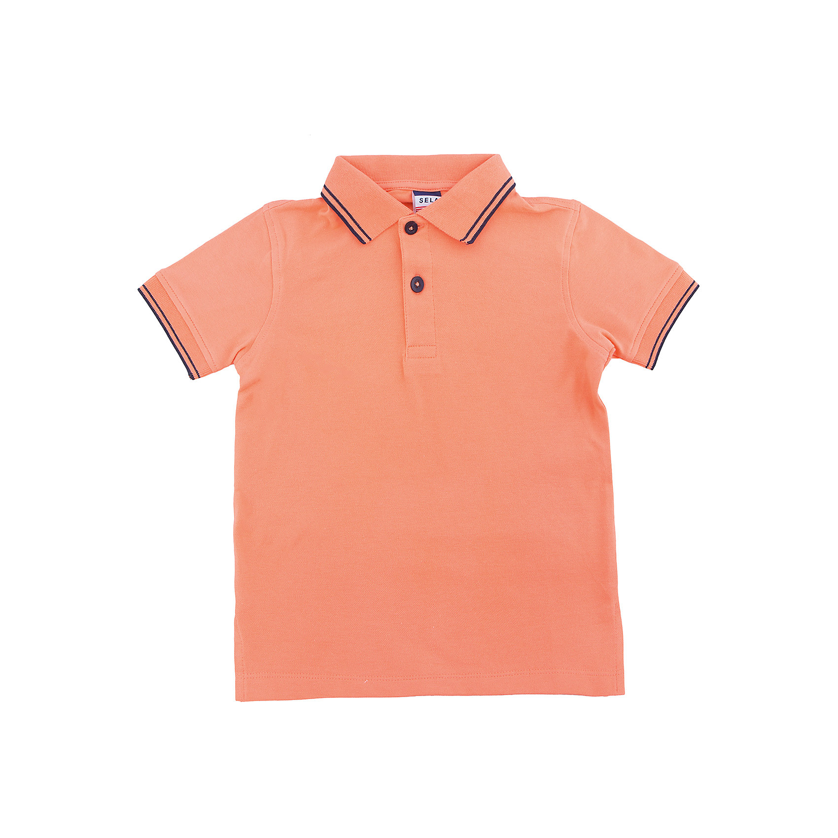 Рубашка для мальчика SELAРубашка для мальчика SELA<br>Состав:<br>95% хлопок, 5% эластан<br><br>Ширина мм: 174<br>Глубина мм: 10<br>Высота мм: 169<br>Вес г: 157<br>Цвет: оранжевый<br>Возраст от месяцев: 48<br>Возраст до месяцев: 60<br>Пол: Мужской<br>Возраст: Детский<br>Размер: 110,98,92,104,116<br>SKU: 5304722