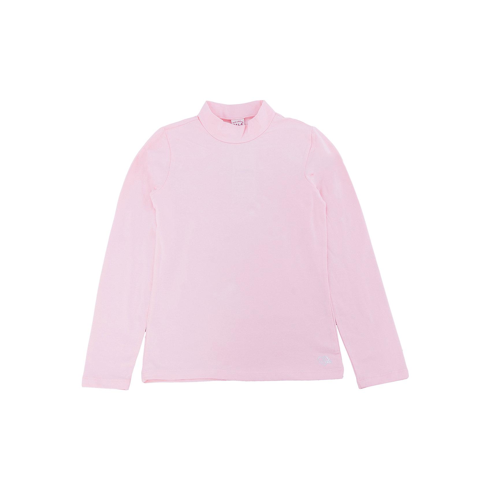 Водолазка для девочки SELAВодолазки<br>Характеристики товара:<br><br>• цвет: розовый<br>• состав: 95% хлопок, 5% эластан<br>• окантовка<br>• длинные рукава<br>• отложной воротник<br>• коллекция весна-лето 2017<br>• страна бренда: Российская Федерация<br><br>Вещи из новой коллекции SELA продолжают радовать удобством! Стильный джемпер для девочки поможет разнообразить гардероб ребенка и обеспечить комфорт. Он отлично сочетается с юбками и брюками. В составе материала - натуральный хлопок.<br><br>Одежда, обувь и аксессуары от российского бренда SELA не зря пользуются большой популярностью у детей и взрослых! Модели этой марки - стильные и удобные, цена при этом неизменно остается доступной. Для их производства используются только безопасные, качественные материалы и фурнитура. Новая коллекция поддерживает хорошие традиции бренда! <br><br>Джемпер для девочки от популярного бренда SELA (СЕЛА) можно купить в нашем интернет-магазине.<br><br>Ширина мм: 190<br>Глубина мм: 74<br>Высота мм: 229<br>Вес г: 236<br>Цвет: розовый<br>Возраст от месяцев: 96<br>Возраст до месяцев: 108<br>Пол: Женский<br>Возраст: Детский<br>Размер: 134,140,146,152,116,122,128<br>SKU: 5304804