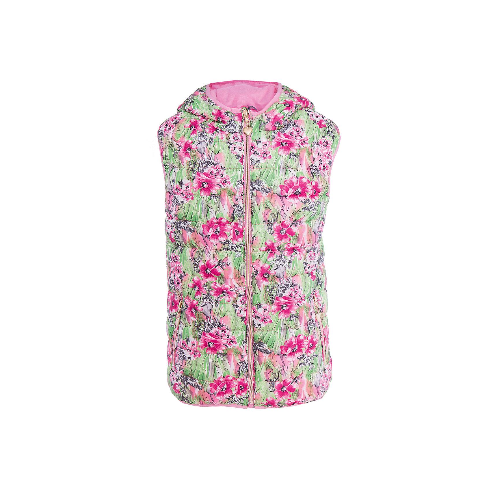 Жилет для девочки SELAВерхняя одежда<br>Характеристики товара:<br><br>• цвет: зеленый/розовый<br>• состав: 100% полиэстер<br>• температурный режим: от +20°до +10°С<br>• принт<br>• яркая подкладка<br>• капюшон (не отстёгивается)<br>• карманы<br>• молния<br>• коллекция весна-лето 2017<br>• страна бренда: Российская Федерация<br><br>Вещи из новой коллекции SELA продолжают радовать удобством! Стильный жилет для девочки поможет разнообразить гардероб ребенка и обеспечить комфорт. Он отлично сочетается с юбками и брюками. Отличается оригинальным принтом.<br><br>Одежда, обувь и аксессуары от российского бренда SELA не зря пользуются большой популярностью у детей и взрослых! Модели этой марки - стильные и удобные, цена при этом неизменно остается доступной. Для их производства используются только безопасные, качественные материалы и фурнитура. Новая коллекция поддерживает хорошие традиции бренда! <br><br>Джемпер для девочки от популярного бренда SELA (СЕЛА) можно купить в нашем интернет-магазине.<br><br>Ширина мм: 190<br>Глубина мм: 74<br>Высота мм: 229<br>Вес г: 236<br>Цвет: белый<br>Возраст от месяцев: 132<br>Возраст до месяцев: 144<br>Пол: Женский<br>Возраст: Детский<br>Размер: 152,128,140,116<br>SKU: 5304817