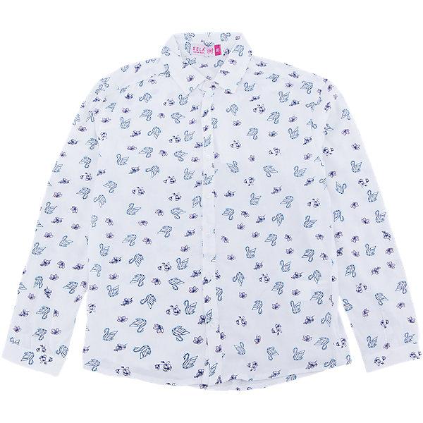 Блузка для девочки SELAБлузки и рубашки<br>Характеристики товара:<br><br>• цвет: белый<br>• состав: 100% вискоза<br>• отложной воротник<br>• застежки: пуговицы<br>• длинный рукав<br>• страна бренда: Российская Федерация<br>• страна производства: Китай<br><br>Классическая блузка с длинным рукавом для девочки. Блузка с рисунком и отложным воротничком. <br><br>Блузку для девочки от популярного бренда SELA (СЕЛА) можно купить в нашем интернет-магазине.<br><br>Ширина мм: 186<br>Глубина мм: 87<br>Высота мм: 198<br>Вес г: 197<br>Цвет: белый<br>Возраст от месяцев: 120<br>Возраст до месяцев: 132<br>Пол: Женский<br>Возраст: Детский<br>Размер: 146,134,128,122,116,152,140<br>SKU: 5304976