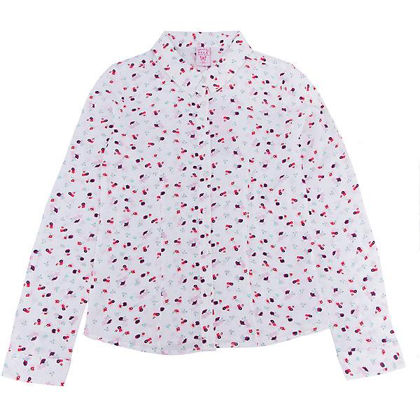 Блуза для девочки SELAБлузки и рубашки<br>Характеристики:<br><br>• Вид детской и подростковой одежды: блузка<br>• Предназначение: повседневная (для школы), праздничная<br>• Сезон: весна-лето<br>• Стиль: романтичный<br>• Тематика рисунка: цветочный<br>• Цвет: белый принт<br>• Материал: вискоза, 100%<br>• Силуэт: полуприталенный<br>• Длина рукава: длинный с манжетом<br>• Воротник: отложной<br>• Застежка: пуговицы на передней планке<br>• Особенности ухода: допускается деликатная стирка без использования красящих и отбеливающих средств, глажение на щадящем режиме<br><br>Блуза для девочки SELA из коллекции детской и подростковой одежды от знаменитого торгового бренда, который производит удобную, комфортную и стильную одежду, предназначенную как для будней, так и для праздников. Блузка для девочки SELA выполнена из 100% вискозы, которая характеризуется повышенными гипоаллергенными свойствами, обладает легким весом, прочностью, не изменяет цвет и форму при длительном использовании и частых стирках. Изделие выполнено в классическом стиле: полуприталенный силуэт, длинный рукав с манжетами и отложной воротничок. Светло-бежевый цвет и мелкий цветочный принт придают изделию романтическую нотку. Блузка для девочки SELA может быть в качестве базовой вещи в гардеробе девочки, прекрасно будет сочетаться с однотонным строгим пиджаком.<br><br>Блузу для девочки SELA можно купить в нашем интернет-магазине.<br><br>Ширина мм: 186<br>Глубина мм: 87<br>Высота мм: 198<br>Вес г: 197<br>Цвет: бежевый<br>Возраст от месяцев: 84<br>Возраст до месяцев: 96<br>Пол: Женский<br>Возраст: Детский<br>Размер: 128,134,122,152,146,140<br>SKU: 5305000