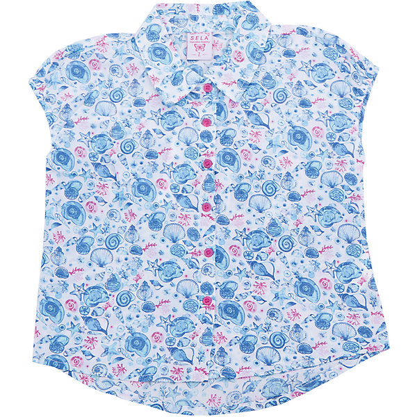 Блузка для девочки SELAБлузки и рубашки<br>Характеристики:<br><br>• Цвет: голубой<br>• Материал: хлопок, 100%<br>• Силуэт: полуприталенный<br>• Длина рукава: длинный с манжетом<br>• Воротник: отложной<br>• Застежка: пуговицы на передней планке<br>• Особенности ухода: допускается деликатная стирка без использования красящих и отбеливающих средств, глажение на щадящем режиме<br><br>Блуза для девочки SELA из коллекции детской и подростковой одежды от знаменитого торгового бренда, который производит удобную, комфортную и стильную одежду, предназначенную как для будней, так и для праздников. Блузка для девочки SELA выполнена из 100% хлопка, который обладает хорошими гигиеническими и гигроскопичными свойствами, при частых стирках не изменяет цвет, оличается повышенной износоустойчивостью . Изделие выполнено в классическом стиле: полуприталенный силуэт, длинный рукав с манжетами и отложной воротничок. Небесно-голубой цвет и мелкий цветочный принт придают изделию романтическую нотку.<br><br>Блузу для девочки SELA можно купить в нашем интернет-магазине.<br>Ширина мм: 186; Глубина мм: 87; Высота мм: 198; Вес г: 197; Цвет: зеленый; Возраст от месяцев: 18; Возраст до месяцев: 24; Пол: Женский; Возраст: Детский; Размер: 92,116,110,104,98; SKU: 5305033;