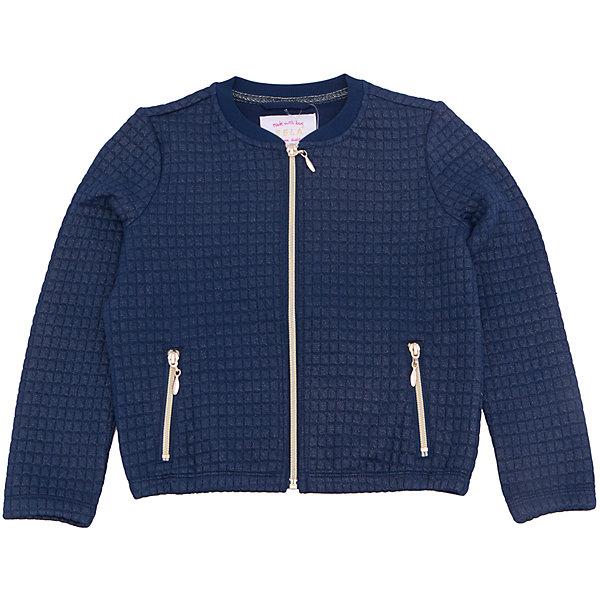 Куртка для девочки SELAВерхняя одежда<br>Характеристики товара:<br><br>• цвет: синий<br>• состав: 60% Полиэстер, 35% хлопок, 5% эластан<br>• температурный режим: от +10°до +20°С<br>• молния<br>• манжеты<br>• длинные рукава<br>• карманы<br>• коллекция весна-лето 2017<br>• страна бренда: Российская Федерация<br><br>Вещи из новой коллекции SELA продолжают радовать удобством! Легкая куртка для девочки поможет разнообразить гардероб ребенка и обеспечить комфорт. Она отлично сочетается с юбками и брюками. Очень стильно смотрится!<br><br>Одежда, обувь и аксессуары от российского бренда SELA не зря пользуются большой популярностью у детей и взрослых! Модели этой марки - стильные и удобные, цена при этом неизменно остается доступной. Для их производства используются только безопасные, качественные материалы и фурнитура. Новая коллекция поддерживает хорошие традиции бренда! <br><br>Куртку для девочки от популярного бренда SELA (СЕЛА) можно купить в нашем интернет-магазине.<br><br>Ширина мм: 356<br>Глубина мм: 10<br>Высота мм: 245<br>Вес г: 519<br>Цвет: синий<br>Возраст от месяцев: 108<br>Возраст до месяцев: 120<br>Пол: Женский<br>Возраст: Детский<br>Размер: 140,152,146,134,128,122,116<br>SKU: 5305053