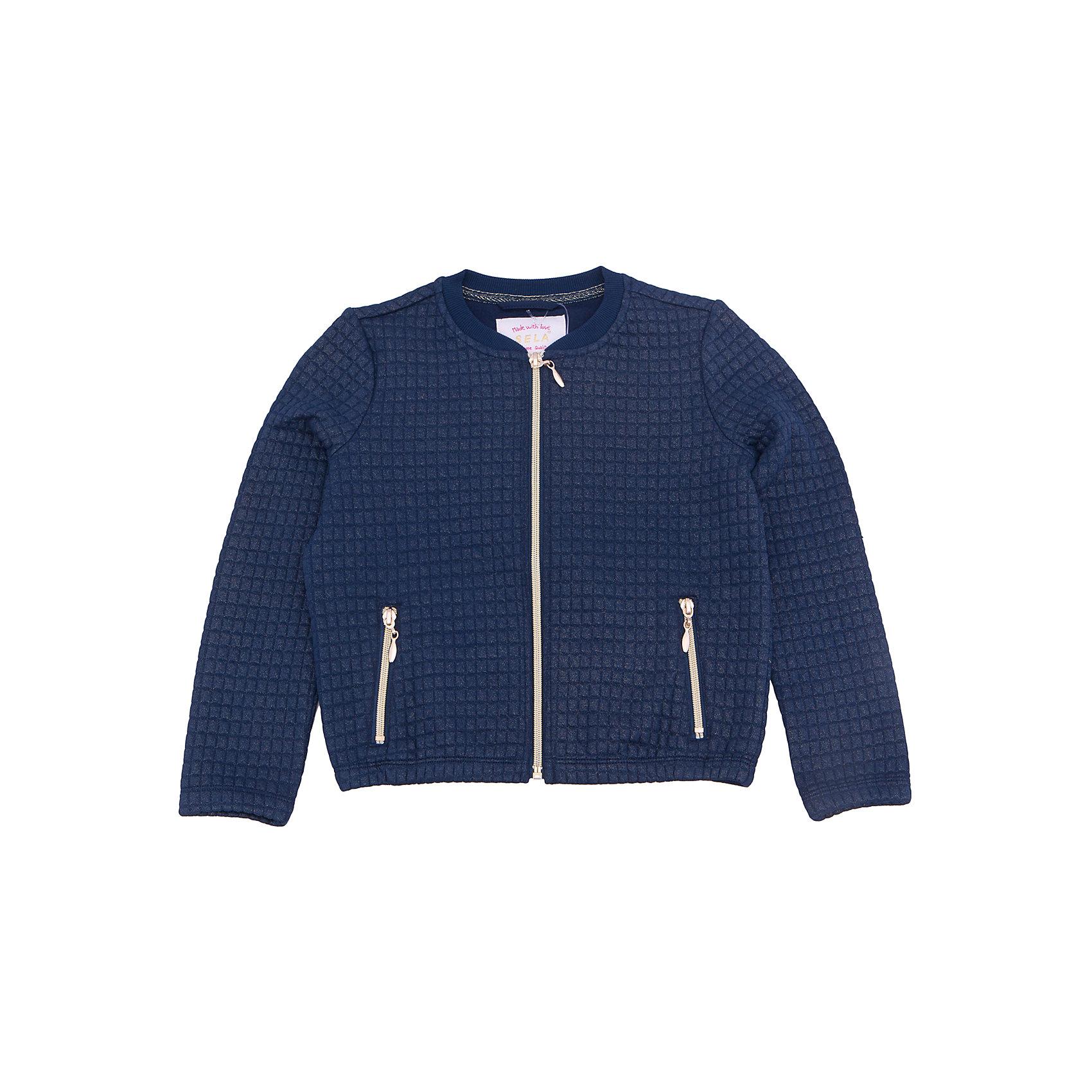 Куртка для девочки SELAВерхняя одежда<br>Характеристики товара:<br><br>• цвет: синий<br>• состав: 60% Полиэстер, 35% хлопок, 5% эластан<br>• температурный режим: от +10°до +20°С<br>• молния<br>• манжеты<br>• длинные рукава<br>• карманы<br>• коллекция весна-лето 2017<br>• страна бренда: Российская Федерация<br><br>Вещи из новой коллекции SELA продолжают радовать удобством! Легкая куртка для девочки поможет разнообразить гардероб ребенка и обеспечить комфорт. Она отлично сочетается с юбками и брюками. Очень стильно смотрится!<br><br>Одежда, обувь и аксессуары от российского бренда SELA не зря пользуются большой популярностью у детей и взрослых! Модели этой марки - стильные и удобные, цена при этом неизменно остается доступной. Для их производства используются только безопасные, качественные материалы и фурнитура. Новая коллекция поддерживает хорошие традиции бренда! <br><br>Куртку для девочки от популярного бренда SELA (СЕЛА) можно купить в нашем интернет-магазине.<br><br>Ширина мм: 356<br>Глубина мм: 10<br>Высота мм: 245<br>Вес г: 519<br>Цвет: синий<br>Возраст от месяцев: 72<br>Возраст до месяцев: 84<br>Пол: Женский<br>Возраст: Детский<br>Размер: 122,116,128,134,140,146,152<br>SKU: 5305053