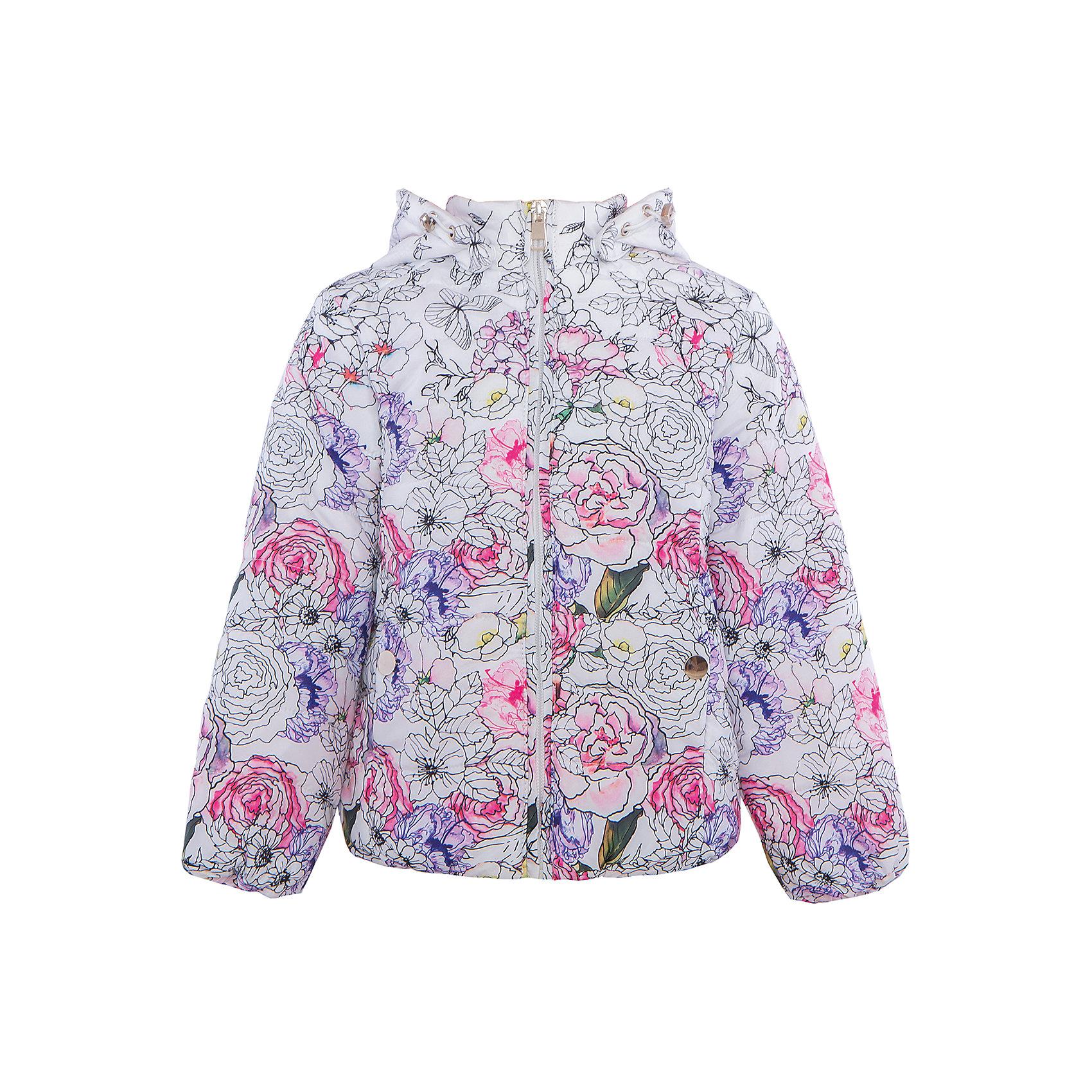 Куртка для девочки SELAВесенняя капель<br>Характеристики:<br><br>• Вид детской и подростковой одежды: куртка<br>• Пол: для девочки<br>• Предназначение: повседневная<br>• Сезон: демисезон<br>• Температурный режим: до -5? С<br>• Тематика рисунка: цветы<br>• Цвет: белый принт<br>• Материал: полиэстер 100%, утеплитель – полиэстер, 100%<br>• Силуэт: полуприлегающий<br>• Длина куртки: до середины бедра<br>• Капюшон: втачной, с карабинами<br>• Застежка: молния, спереди<br>• Особенности ухода: допускается щадящая стирка и химчистка<br><br>Куртка для девочки SELA из коллекции детской и подростковой одежды от знаменитого торгового бренда, который производит удобную, комфортную и стильную одежду, предназначенную как для будней, так и для праздников. Куртка выполнена из полиэстера, который обладает влагонепроницаемыми и ветрозащитными свойствами. Трикотажный подклад обеспечивает поддержание комфортной температуры. Длина куртки – средняя, что защищает спину от продувания. Спереди имеется застежка на молнии и втачной капюшон, ширина которого регулируется карабинами. Курточка для девочки выполнена в ярком оригинальном дизайне: цветочный крупный принт придает изделию особое очарование. <br><br>Куртку для девочки SELA можно купить в нашем интернет-магазине.<br>Состав:<br>100% ПЭ<br><br>Ширина мм: 356<br>Глубина мм: 10<br>Высота мм: 245<br>Вес г: 519<br>Цвет: белый<br>Возраст от месяцев: 60<br>Возраст до месяцев: 72<br>Пол: Женский<br>Возраст: Детский<br>Размер: 116,98,104,110<br>SKU: 5305093