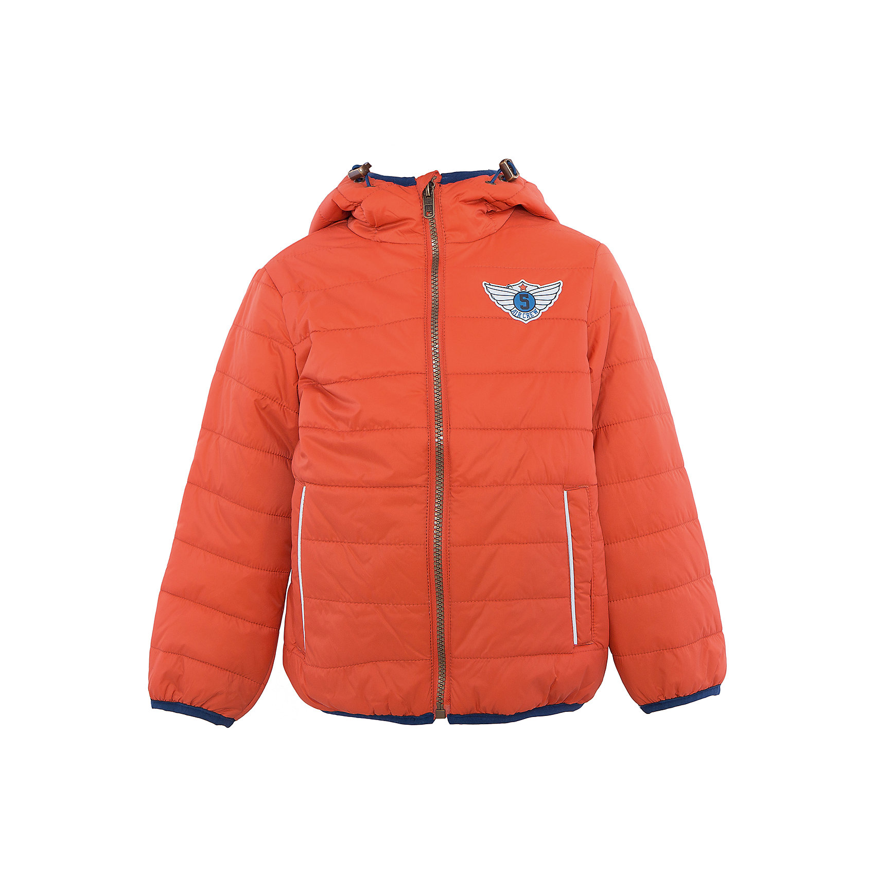 Куртка для мальчика SELAВерхняя одежда<br>Характеристики:<br><br>• Вид детской и подростковой одежды: куртка<br>• Пол: для мальчика<br>• Предназначение: повседневная<br>• Сезон: демисезон<br>• Температурный режим: до -5? С<br>• Тематика рисунка: без рисунка<br>• Цвет: оранжевый<br>• Материал: нейлон 100%, подклад – хлопок, 50%, утеплитель – полиэстер, 100%<br>• Силуэт: прямой<br>• Длина куртки: до середины бедра<br>• Капюшон: притачной, с карабинами<br>• Застежка: молния, спереди<br>• Спереди имеются карманы на молнии<br>• Особенности ухода: допускается щадящая стирка и химчистка<br><br>Куртка для мальчика SELA из коллекции детской и подростковой одежды от знаменитого торгового бренда, который производит удобную, комфортную и стильную одежду, предназначенную как для будней, так и для праздников. Куртка выполнена из нейлона, который обладает влагонепроницаемыми и ветрозащитными свойствами. Трикотажный подклад обеспечивает поддержание комфортной температуры. Длина куртки – средняя, что защищает спину от продувания. Спереди имеется застежка на молнии и два кармана. Притачной капюшон с регулируемой шириной и трикотажная окантовка изделия создают стильный дизайн . Стеганая курточка выполнена в ярком оранжевом цвете. <br><br>Куртку для мальчика SELA можно купить в нашем интернет-магазине.<br>Состав:<br>100% нейлон<br><br>Ширина мм: 356<br>Глубина мм: 10<br>Высота мм: 245<br>Вес г: 519<br>Цвет: оранжевый<br>Возраст от месяцев: 60<br>Возраст до месяцев: 72<br>Пол: Мужской<br>Возраст: Детский<br>Размер: 116,98,104,110<br>SKU: 5305113
