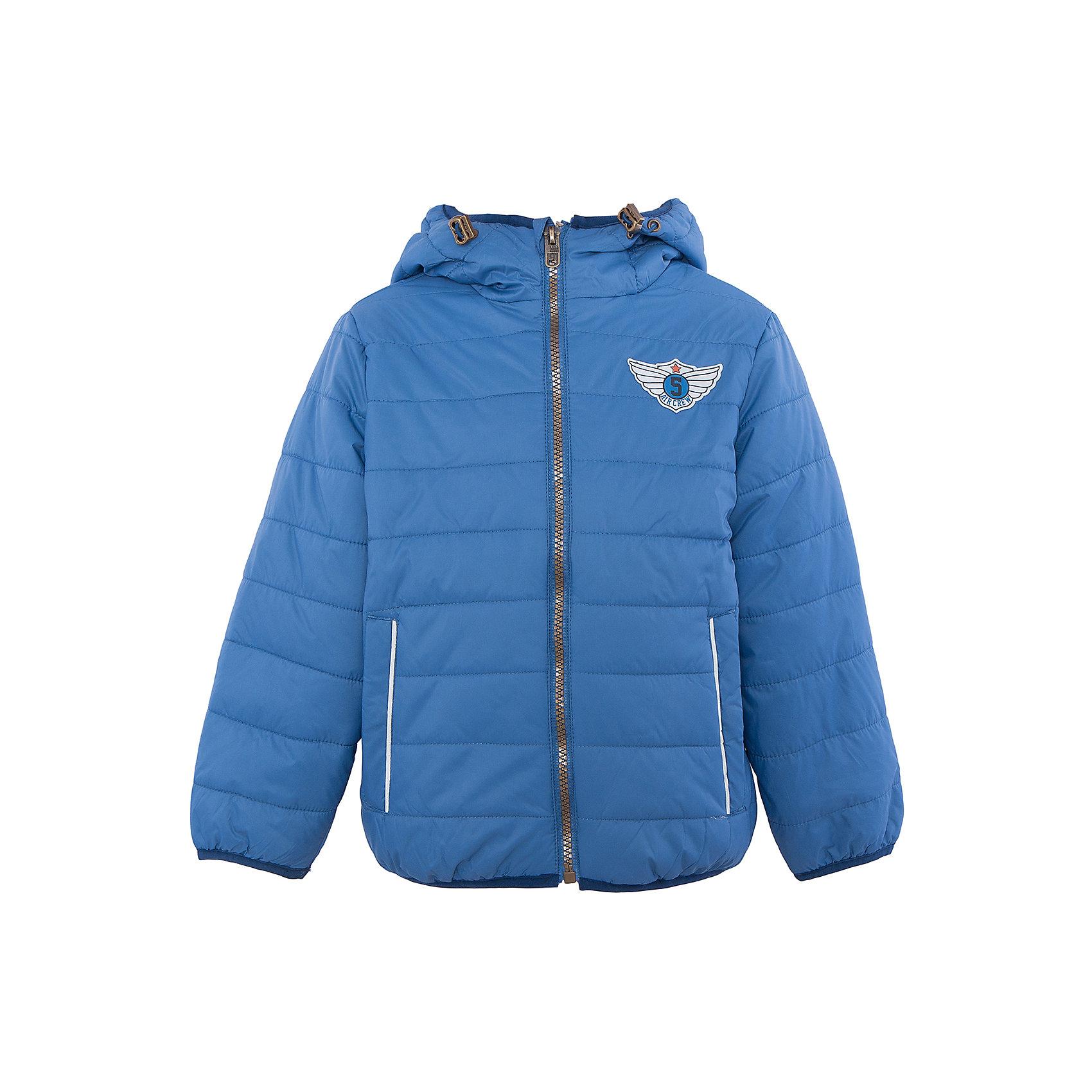 Куртка для мальчика SELAХарактеристики:<br><br>• Вид детской и подростковой одежды: куртка<br>• Пол: для мальчика<br>• Предназначение: повседневная<br>• Сезон: демисезон<br>• Температурный режим: до -5? С<br>• Тематика рисунка: без рисунка<br>• Цвет: синий<br>• Материал: нейлон 100%, подклад – хлопок, 50%, утеплитель – полиэстер, 100%<br>• Силуэт: прямой<br>• Длина куртки: до середины бедра<br>• Капюшон: притачной, с карабинами<br>• Застежка: молния, спереди<br>• Спереди имеются карманы на молнии<br>• Особенности ухода: допускается щадящая стирка и химчистка<br><br>Куртка для мальчика SELA из коллекции детской и подростковой одежды от знаменитого торгового бренда, который производит удобную, комфортную и стильную одежду, предназначенную как для будней, так и для праздников. Куртка выполнена из нейлона, который обладает влагонепроницаемыми и ветрозащитными свойствами. Трикотажный подклад обеспечивает поддержание комфортной температуры. Длина куртки – средняя, что защищает спину от продувания. Спереди имеется застежка на молнии и два кармана. Притачной капюшон с регулируемой шириной и трикотажная окантовка изделия создают стильный дизайн. Стеганая курточка выполнена в цвете светлый деним. <br><br>Куртку для мальчика SELA можно купить в нашем интернет-магазине.<br><br>Ширина мм: 356<br>Глубина мм: 10<br>Высота мм: 245<br>Вес г: 519<br>Цвет: голубой<br>Возраст от месяцев: 24<br>Возраст до месяцев: 36<br>Пол: Мужской<br>Возраст: Детский<br>Размер: 98,104,110,116<br>SKU: 5305123