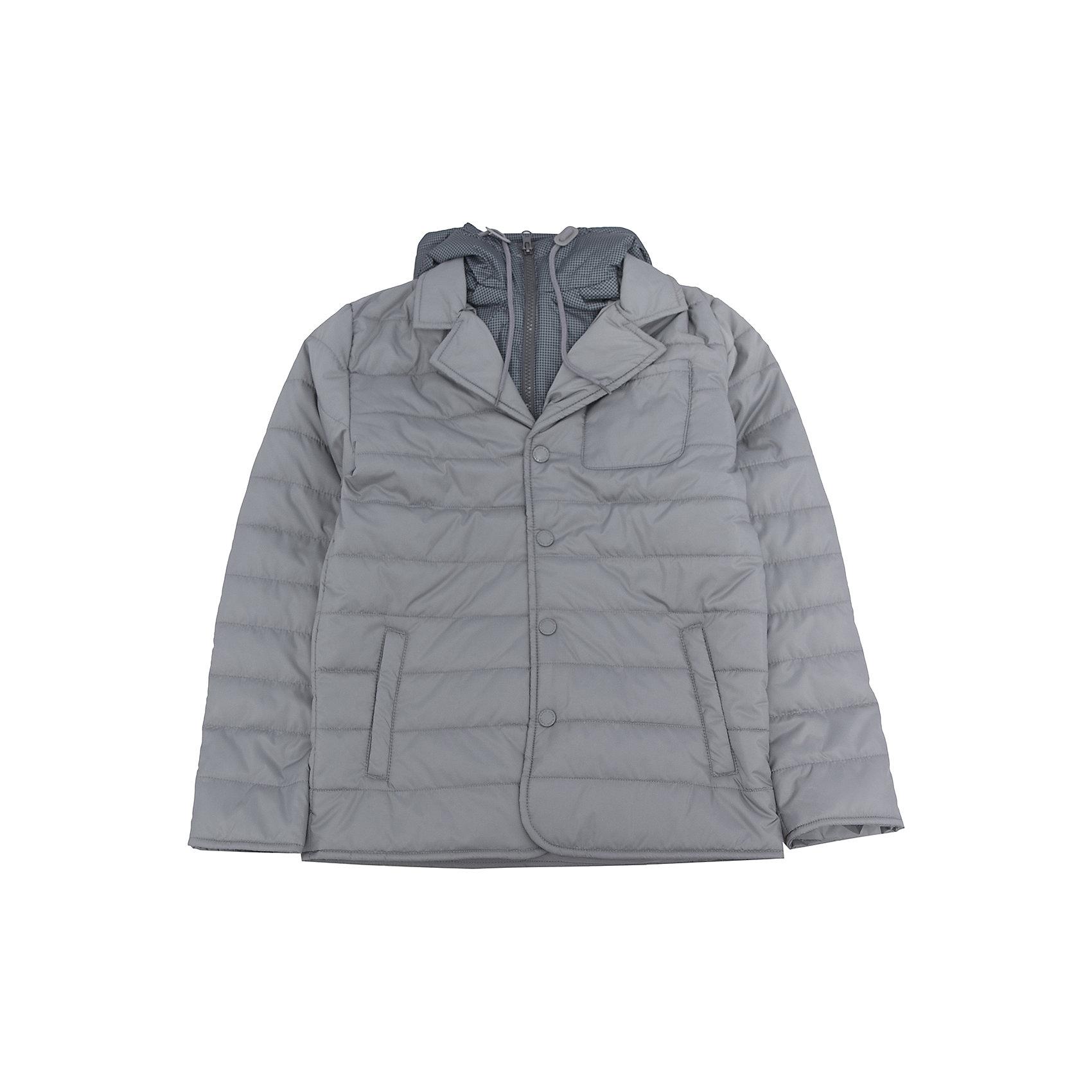 Куртка для мальчика SELAХарактеристики:<br><br>• Вид детской и подростковой одежды: куртка<br>• Пол: для мальчика<br>• Предназначение: повседневная<br>• Сезон: демисезон<br>• Температурный режим: до -5? С<br>• Тематика рисунка: без рисунка<br>• Цвет: серый<br>• Материал: полиэстер 100%, утеплитель – полиэстер, 100%<br>• Силуэт: прямой<br>• Длина куртки: до середины бедра<br>• Капюшон: притачной, с карабинами и молнией<br>• Воротник: отложной, пиджачного типа<br>• Застежка: пуговицы, спереди<br>• Спереди имеются карманы <br>• Особенности ухода: допускается щадящая стирка и химчистка<br><br>Куртка для мальчика SELA из коллекции детской и подростковой одежды от знаменитого торгового бренда, который производит удобную, комфортную и стильную одежду, предназначенную как для будней, так и для праздников. Куртка выполнена из полиэстера, который обладает влагонепроницаемыми и ветрозащитными свойствами. Утеплитель и подклад обеспечивает поддержание комфортной температуры. Длина куртки – средняя, что защищает спину от продувания. Спереди имеется застежка на на пуговицах и карманы. Особый стилевой дизайн куртке придают отложной воротник пиджачного типа и капюшон контрастного цвета с застежкой молнией. Стеганая курточка выполнена в классическом сером цвете. <br><br>Куртку для мальчика SELA можно купить в нашем интернет-магазине.<br><br>Ширина мм: 356<br>Глубина мм: 10<br>Высота мм: 245<br>Вес г: 519<br>Цвет: серый<br>Возраст от месяцев: 84<br>Возраст до месяцев: 96<br>Пол: Мужской<br>Возраст: Детский<br>Размер: 128,140,152,116<br>SKU: 5305148
