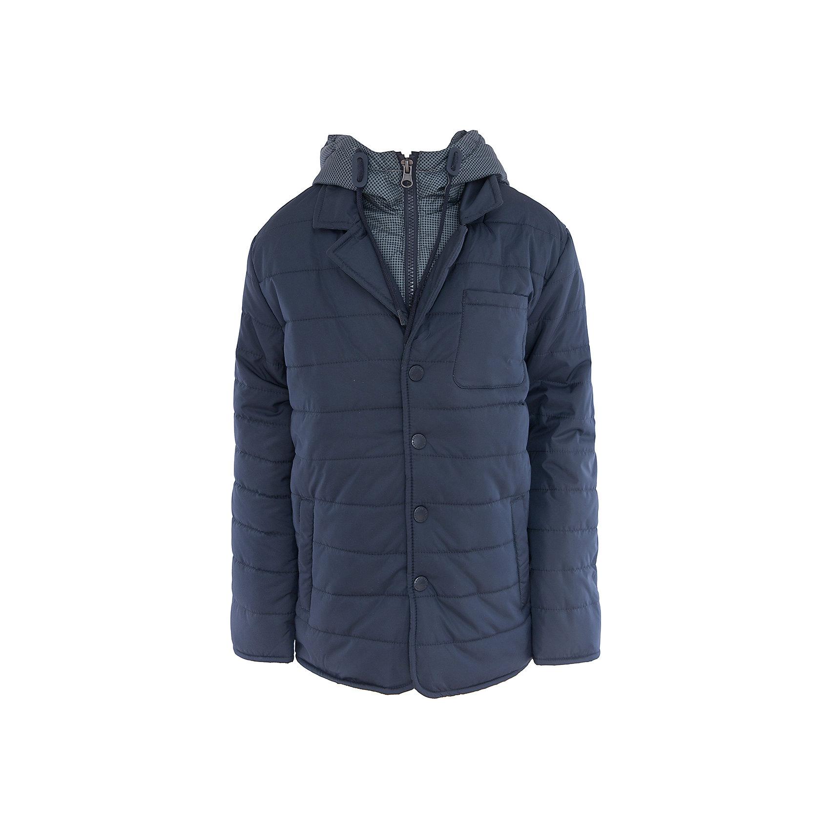 Куртка для мальчика SELAВерхняя одежда<br>Характеристики:<br><br>• Вид детской и подростковой одежды: куртка<br>• Пол: для мальчика<br>• Предназначение: повседневная<br>• Сезон: демисезон<br>• Температурный режим: до -5? С<br>• Тематика рисунка: без рисунка<br>• Цвет: темно-синий<br>• Материал: полиэстер 100%, утеплитель – полиэстер, 100%<br>• Силуэт: прямой<br>• Длина куртки: до середины бедра<br>• Капюшон: притачной, с карабинами и молнией<br>• Воротник: отложной, пиджачного типа<br>• Застежка: пуговицы, спереди<br>• Спереди имеются карманы <br>• Особенности ухода: допускается щадящая стирка и химчистка<br><br>Куртка для мальчика SELA из коллекции детской и подростковой одежды от знаменитого торгового бренда, который производит удобную, комфортную и стильную одежду, предназначенную как для будней, так и для праздников. Куртка выполнена из полиэстера, который обладает влагонепроницаемыми и ветрозащитными свойствами. Утеплитель и подклад обеспечивает поддержание комфортной температуры. Длина куртки – средняя, что защищает спину от продувания. Спереди имеется застежка на на пуговицах и карманы. Особый стилевой дизайн куртке придают отложной воротник пиджачного типа и капюшон контрастного цвета с застежкой молнией. Стеганая курточка выполнена в классическом темно-синем цвете. <br><br>Куртку для мальчика SELA можно купить в нашем интернет-магазине.<br><br>Ширина мм: 356<br>Глубина мм: 10<br>Высота мм: 245<br>Вес г: 519<br>Цвет: синий<br>Возраст от месяцев: 84<br>Возраст до месяцев: 96<br>Пол: Мужской<br>Возраст: Детский<br>Размер: 128,140,152,116<br>SKU: 5305153