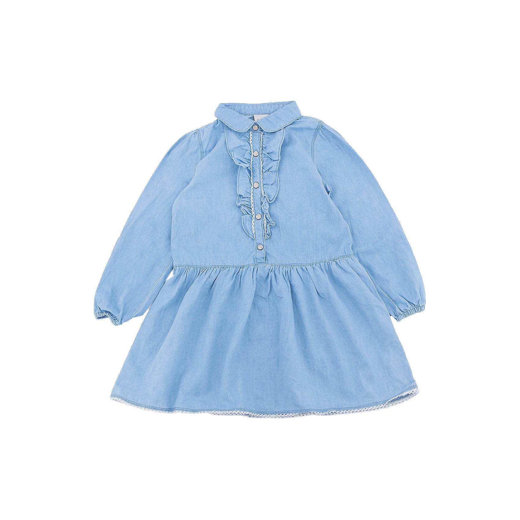 Платье джинсовое для девочки SELAДжинсовая одежда<br>Характеристики товара:<br><br>• цвет: синий джинс<br>• сезон: лето, демисезон<br>• состав: 100% хлопок<br>• декорировано оборками<br>• длина выше колена<br>• длинные рукава<br>• страна бренда: Россия<br><br>В новой коллекции SELA отличные модели одежды! Это платье для девочки поможет разнообразить гардероб ребенка и обеспечить комфорт. Оно отлично сочетается с различной обувью. <br><br>Одежда, обувь и аксессуары от российского бренда SELA не зря пользуются большой популярностью у детей и взрослых! Модели этой марки - стильные и удобные, цена при этом неизменно остается доступной. Для их производства используются только безопасные, качественные материалы и фурнитура.<br><br>Платье для девочки от популярного бренда SELA (СЕЛА) можно купить в нашем интернет-магазине.<br><br>Ширина мм: 236<br>Глубина мм: 16<br>Высота мм: 184<br>Вес г: 177<br>Цвет: синий джинс<br>Возраст от месяцев: 60<br>Возраст до месяцев: 72<br>Пол: Женский<br>Возраст: Детский<br>Размер: 116,98,104,110<br>SKU: 5305257