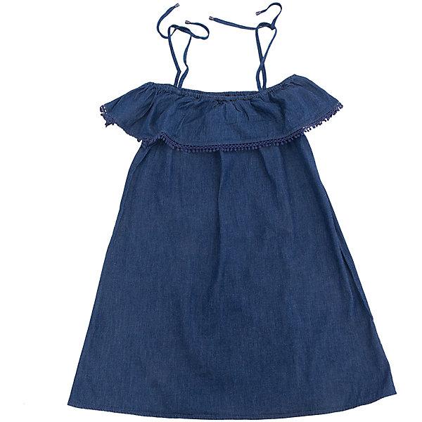 Платье для девочки SELAПлатья и сарафаны<br>Характеристики товара:<br><br>• цвет: синий<br>• сезон: лето<br>• состав: 100% хлопок<br>• декоировано кружевом<br>• длина выше колена<br>• открытые плчеи<br>• страна бренда: Россия<br><br>В новой коллекции SELA отличные модели одежды! Это платье для девочки поможет разнообразить гардероб ребенка и обеспечить комфорт. Оно отлично сочетается с различной обувью. <br><br>Одежда, обувь и аксессуары от российского бренда SELA не зря пользуются большой популярностью у детей и взрослых! Модели этой марки - стильные и удобные, цена при этом неизменно остается доступной. Для их производства используются только безопасные, качественные материалы и фурнитура.<br><br>Платье для девочки от популярного бренда SELA (СЕЛА) можно купить в нашем интернет-магазине.<br>Ширина мм: 236; Глубина мм: 16; Высота мм: 184; Вес г: 177; Цвет: синий деним; Возраст от месяцев: 96; Возраст до месяцев: 108; Пол: Женский; Возраст: Детский; Размер: 134,128,122,152,146,140; SKU: 5305279;